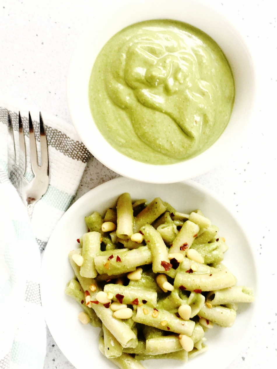 avocado and Spinach pasta.JPG