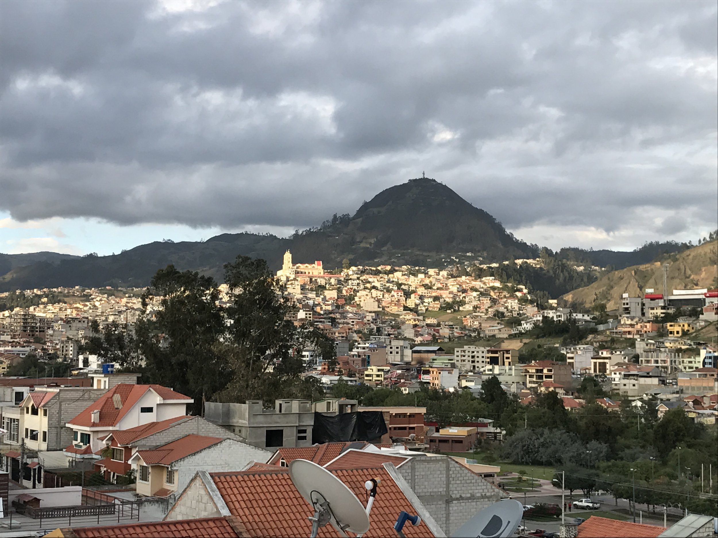 View of the Cathedral from apartment terrace.