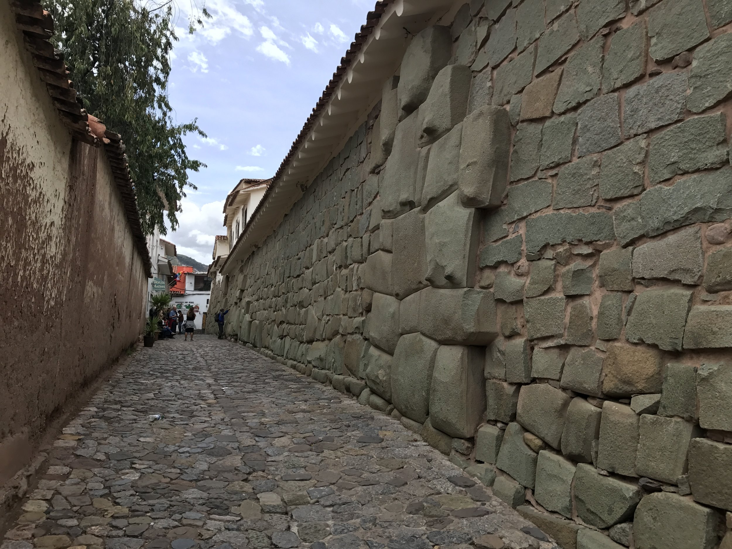 It was easy to identify the sections created by the Incans from the more recent stone work.
