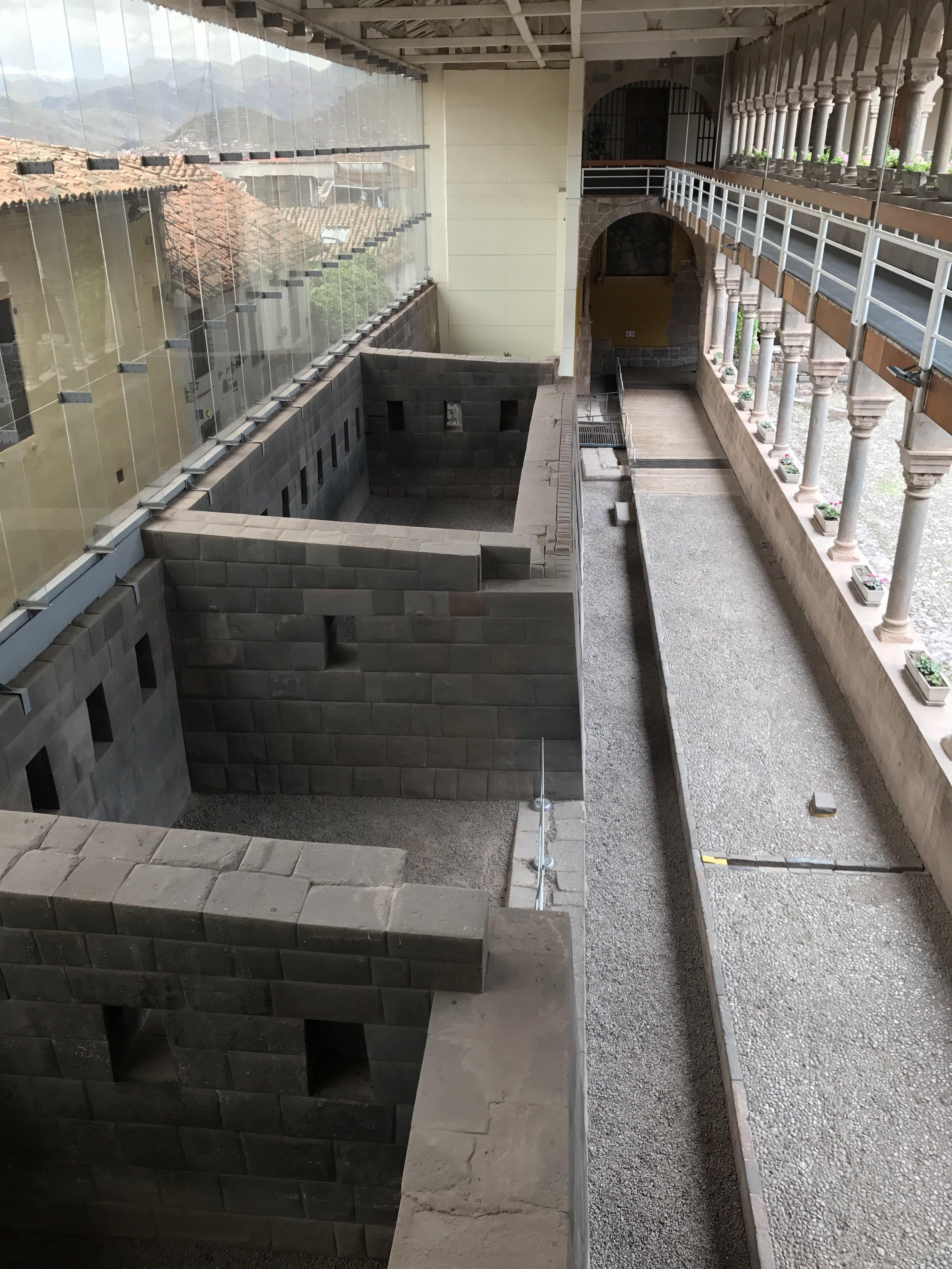 Rooms of the Inca Sun Temple inside the church.