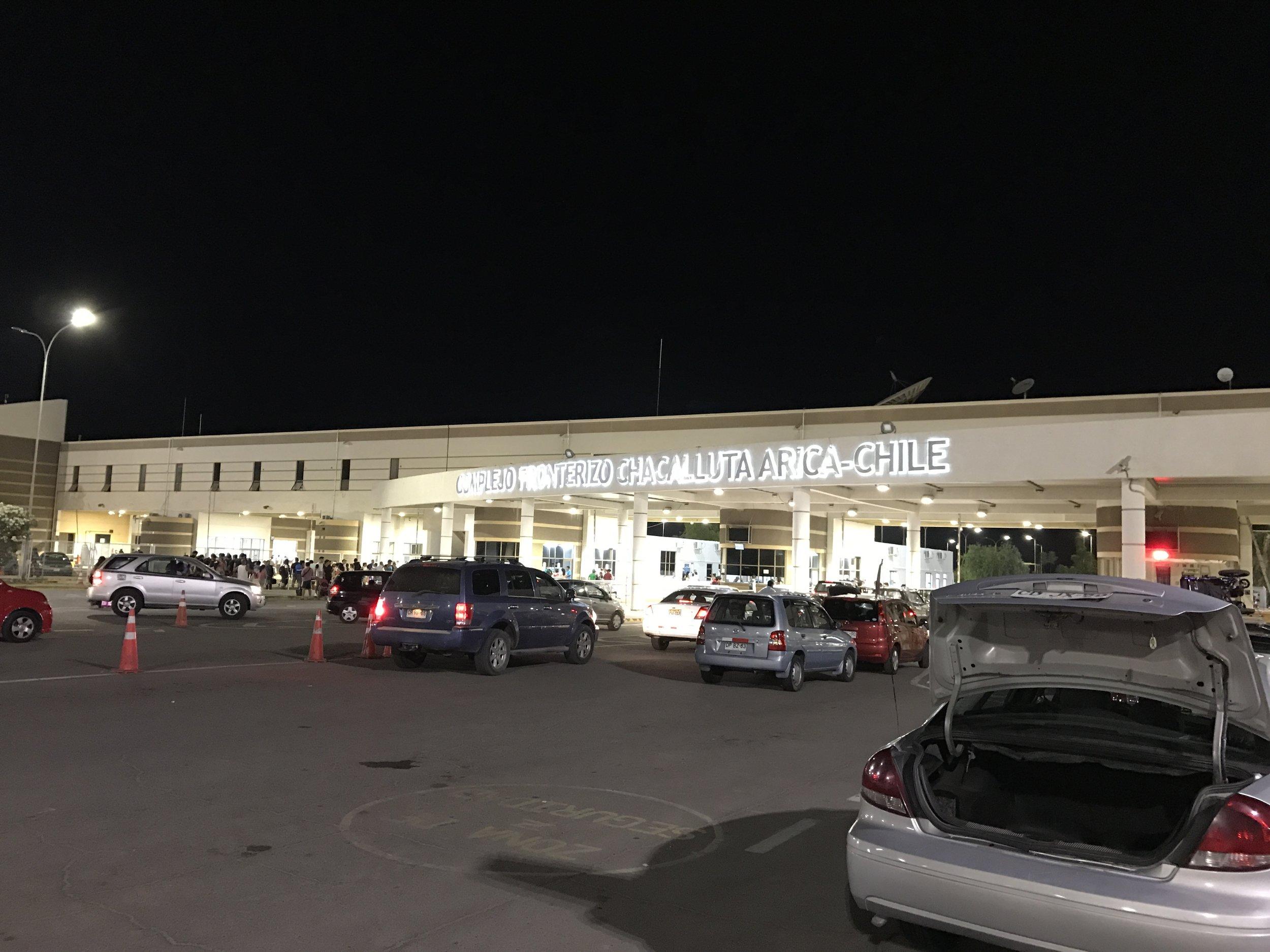 Border crossing Arica, Chile.