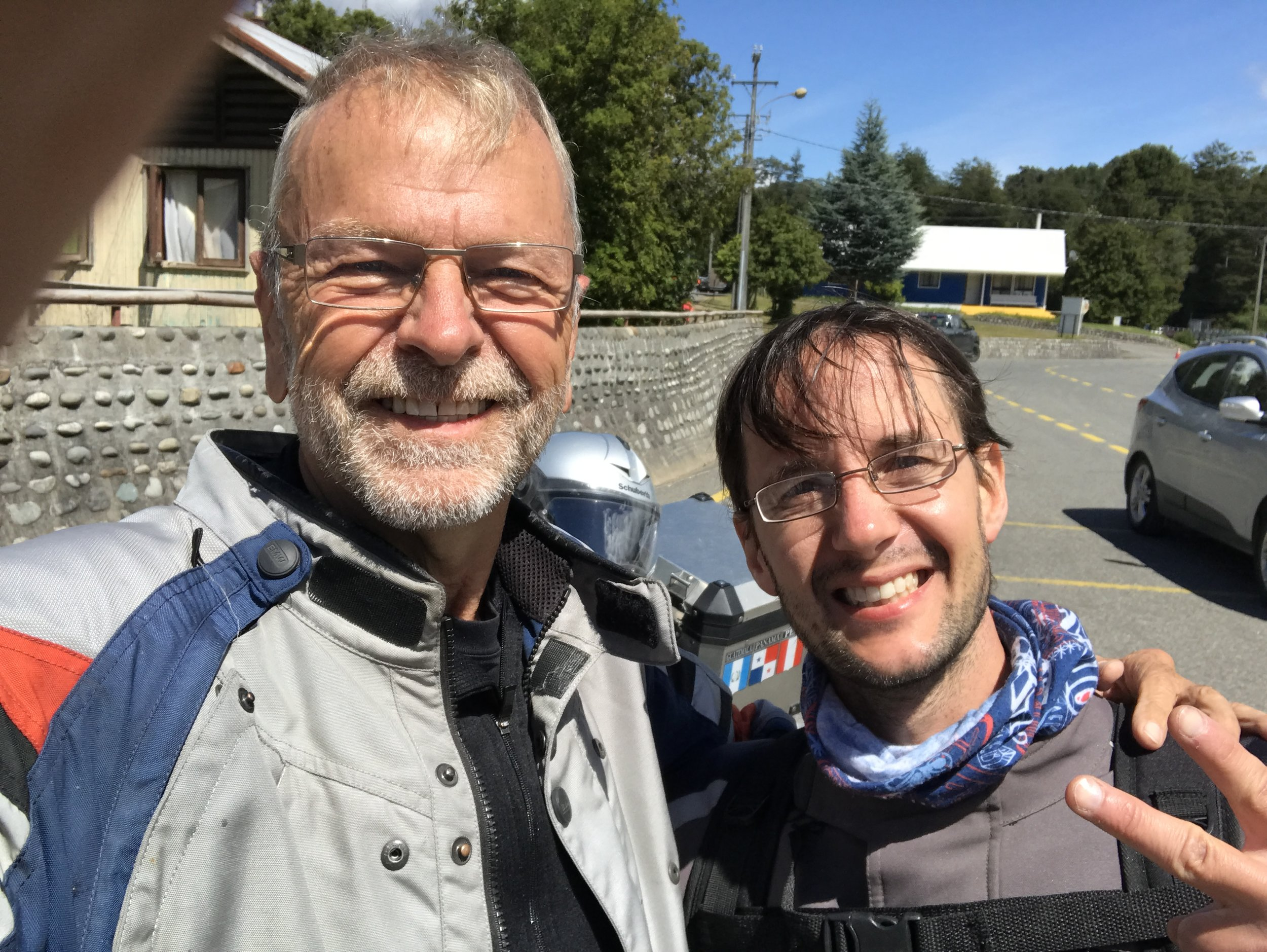 Franco, a fellow adventure motorcycle rider from Argentina, that I met at the border.