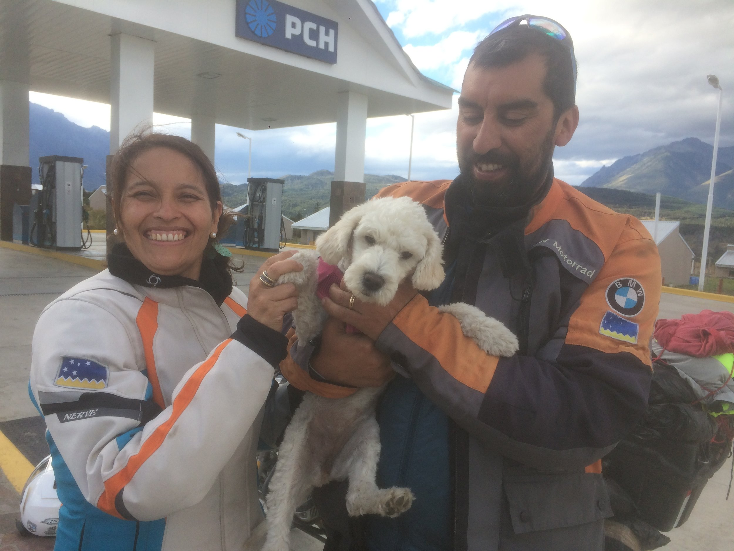 New biker friends from Santiago, Chile.