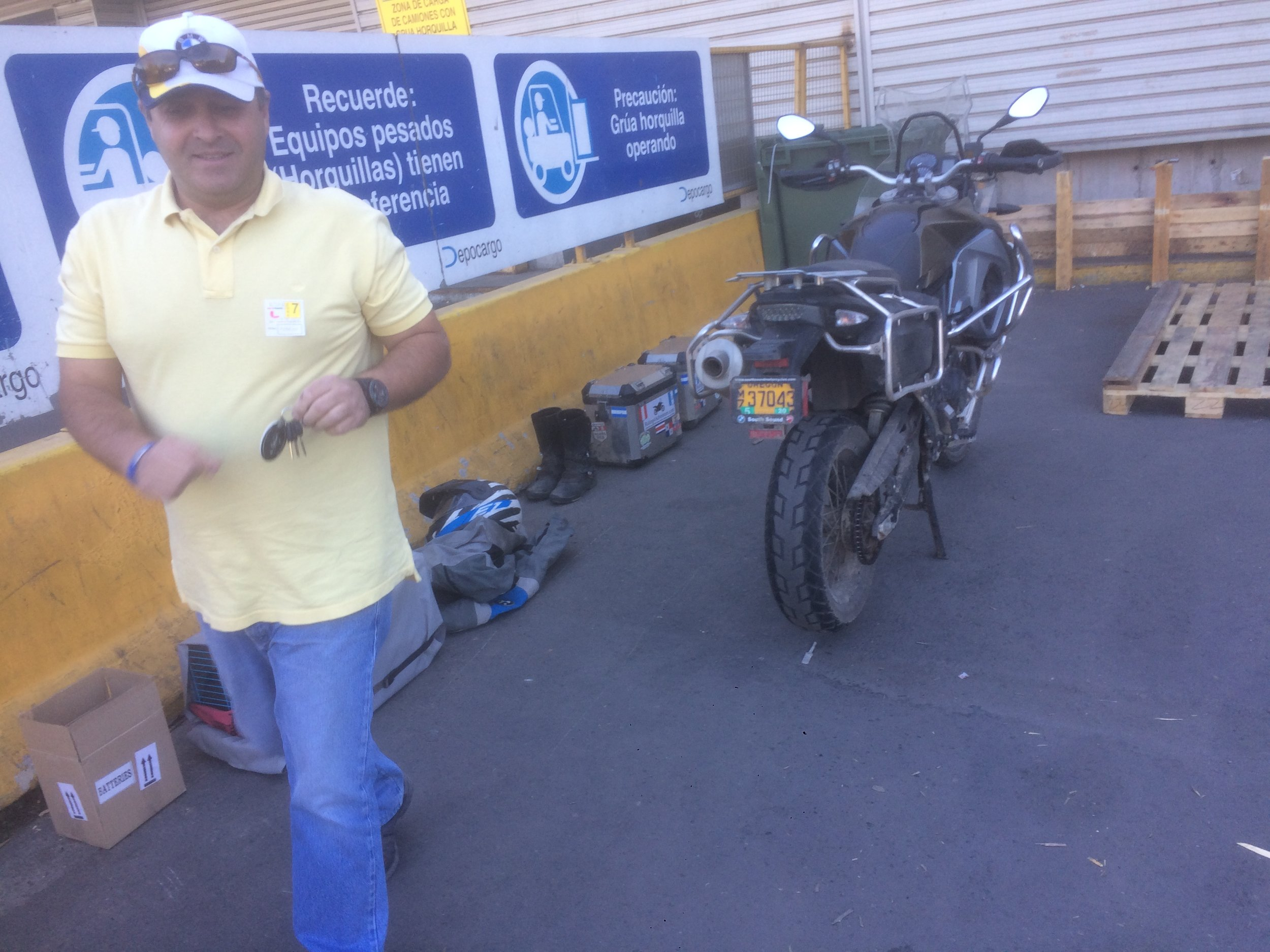 I can't thank Julio enough for everything he has done to get my bike home.