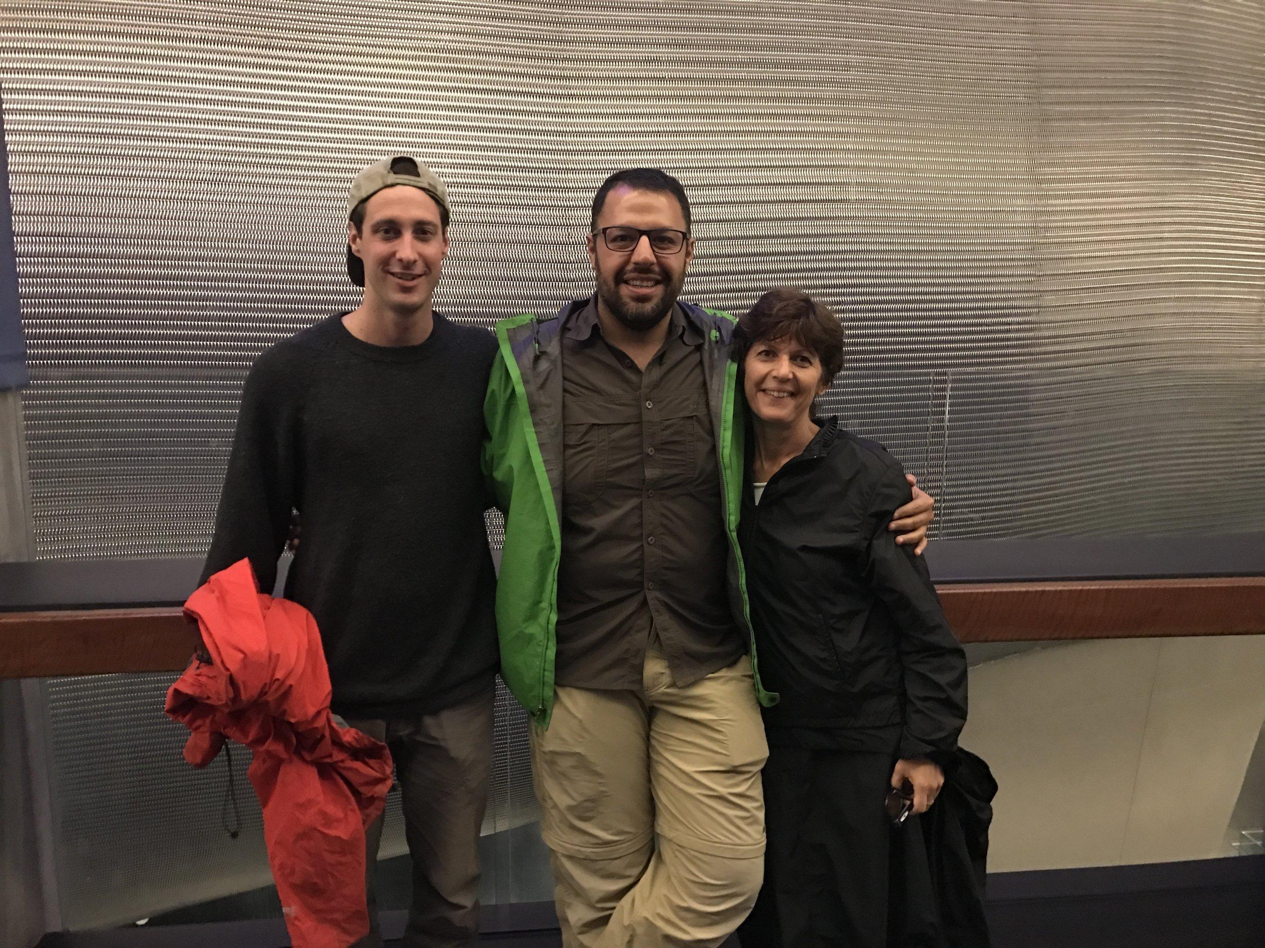 Chris (also from the Stahlratte), Pejman and Karen
