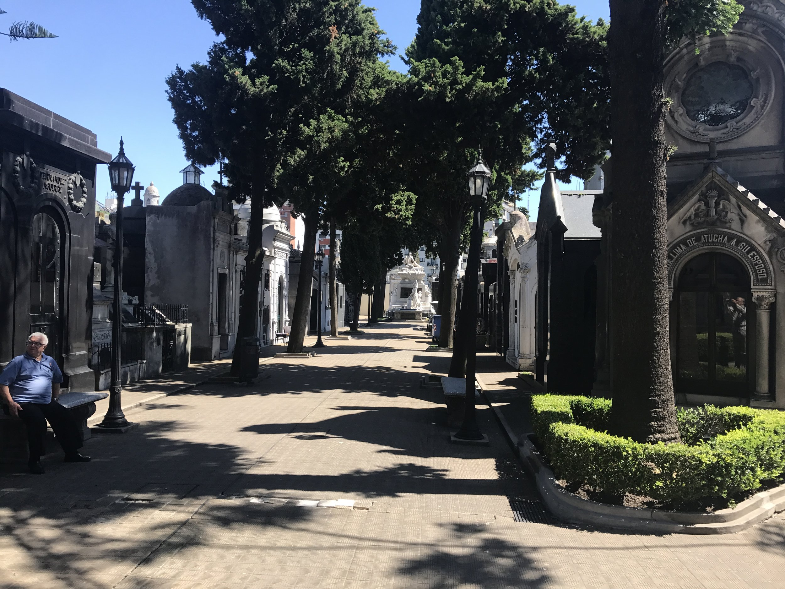 Recoleta Cemetery where many famous people are buried.