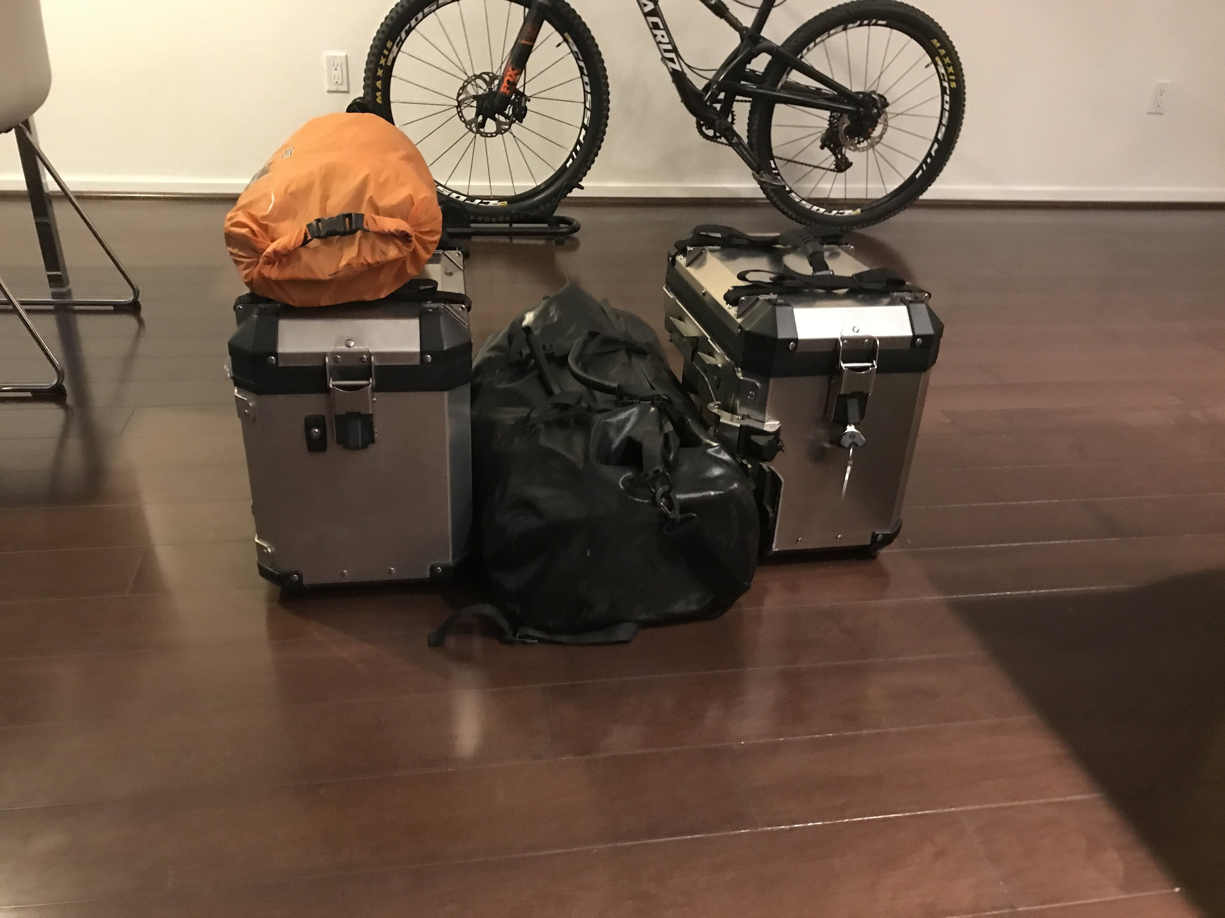 All of my gear for the trip to the Arctic Circle.