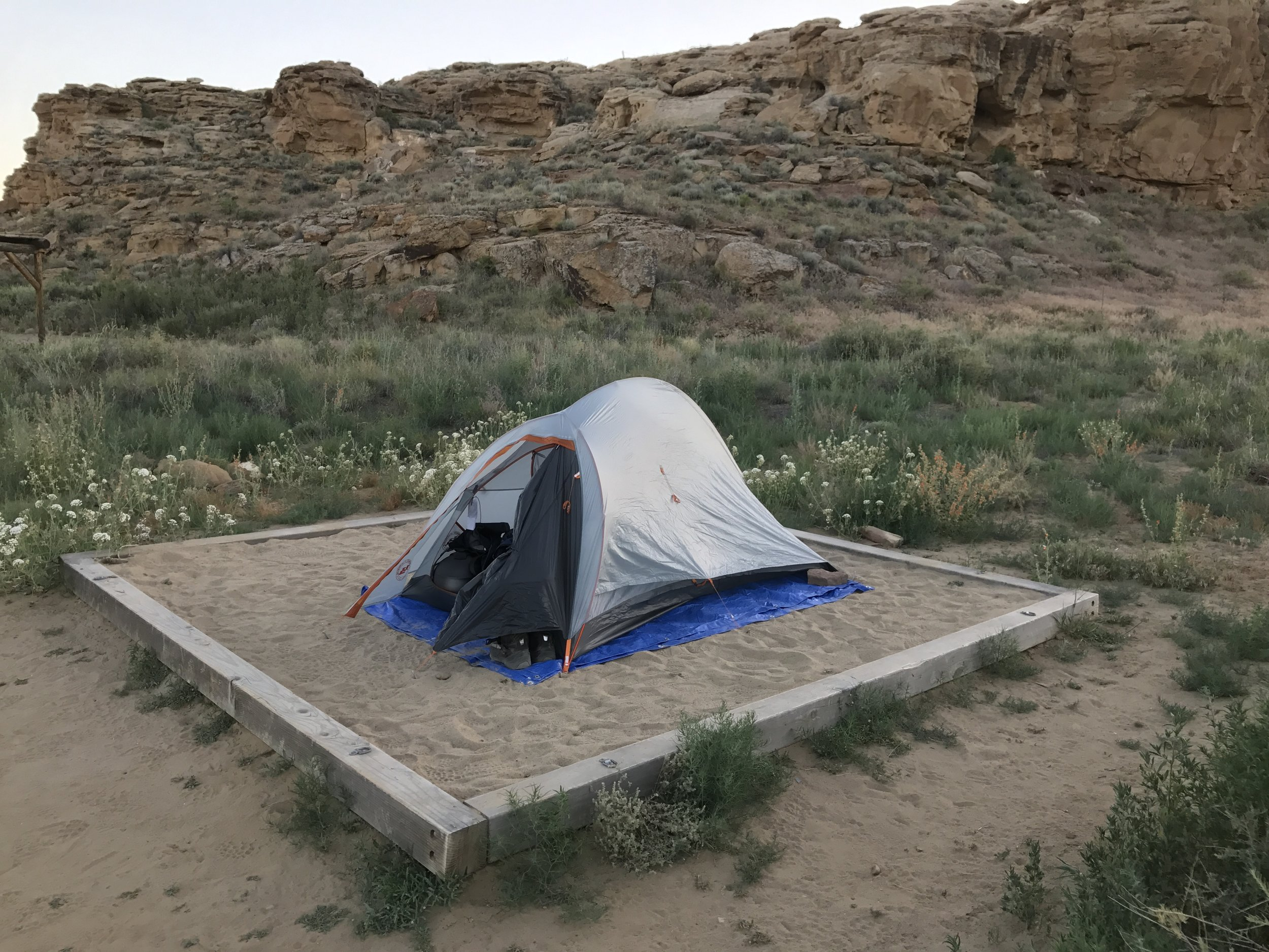 Nice soft sand for my tent.