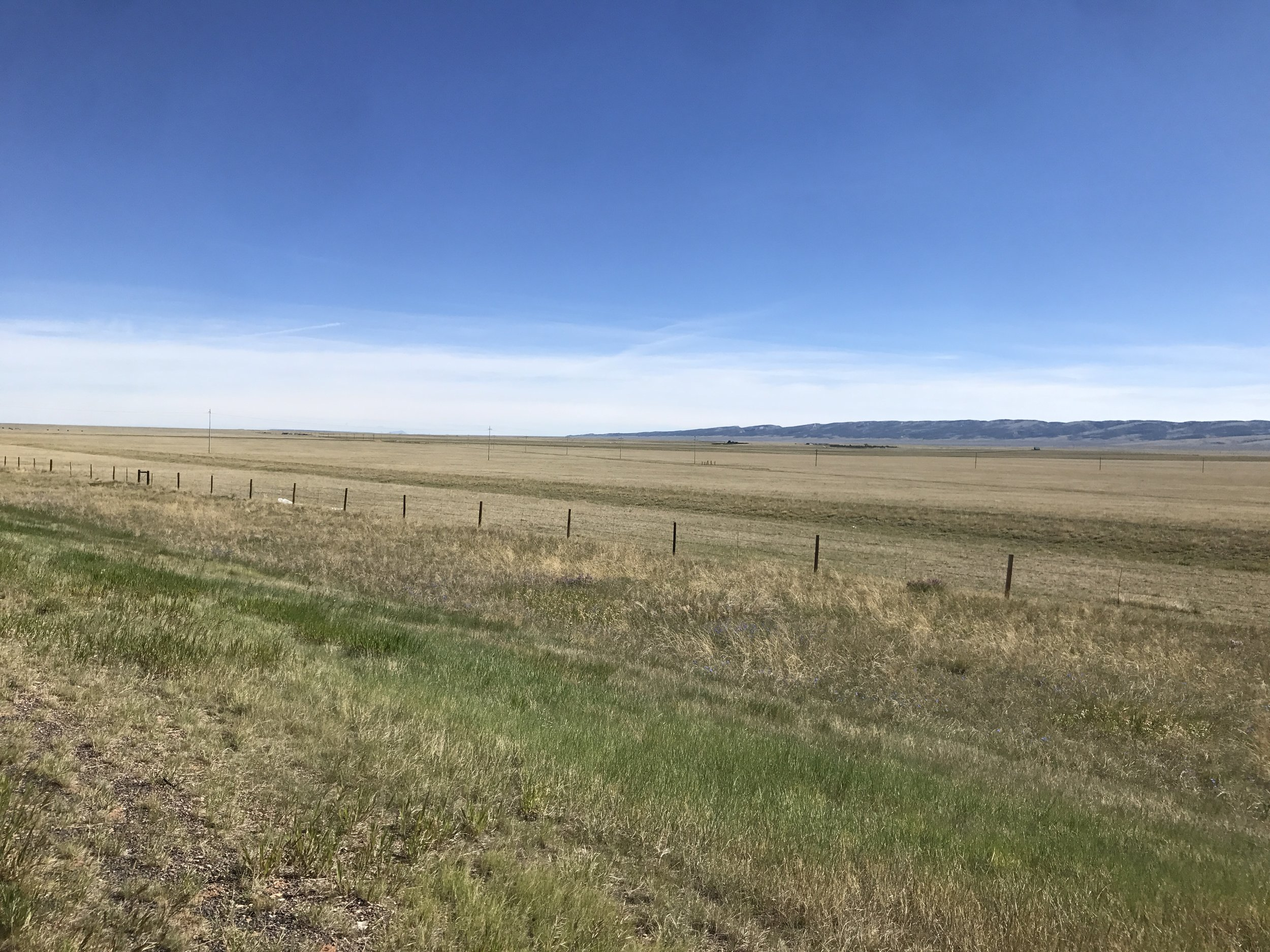 Endless grasslands in Wyoming.