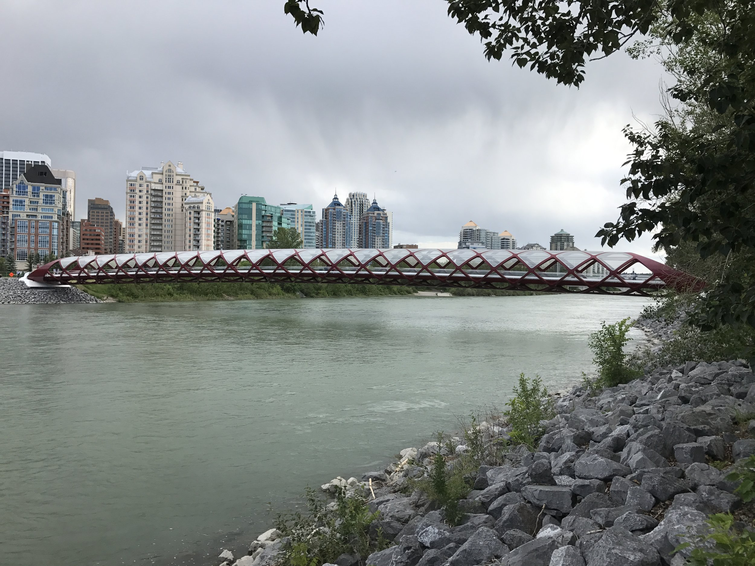 The Peace Bridge. Denise's son helped design and build it.