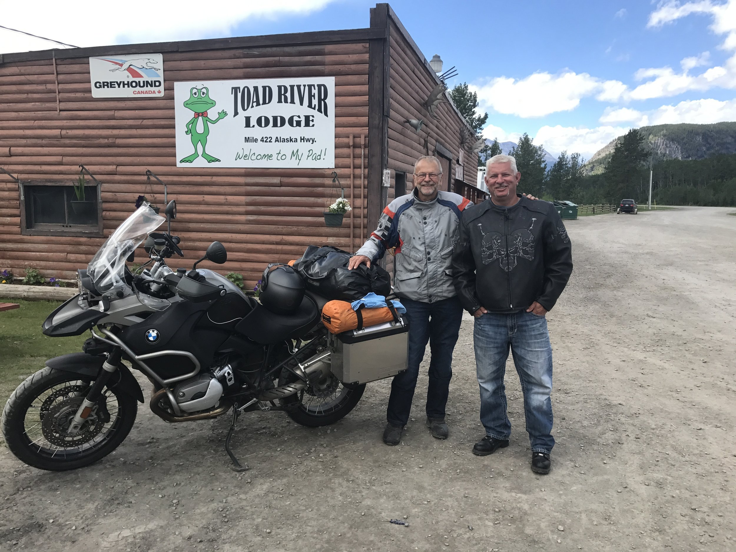 Motorcyclists from Fort Nelson.