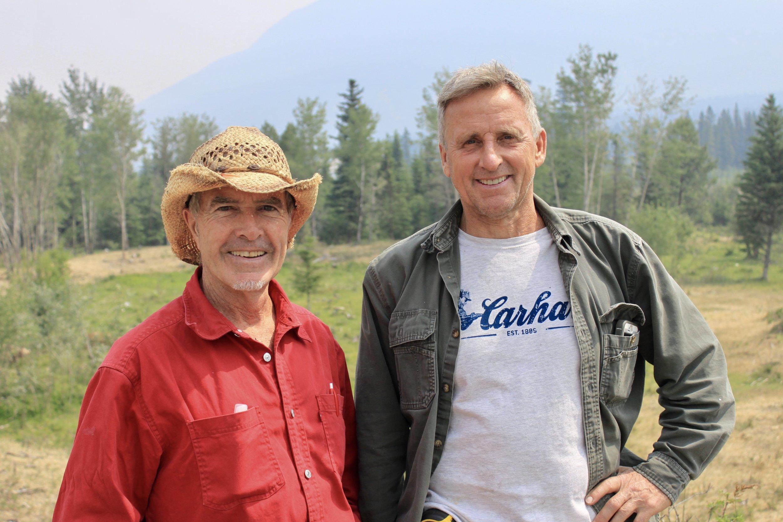Wayne and Rob at Rob's ranch.