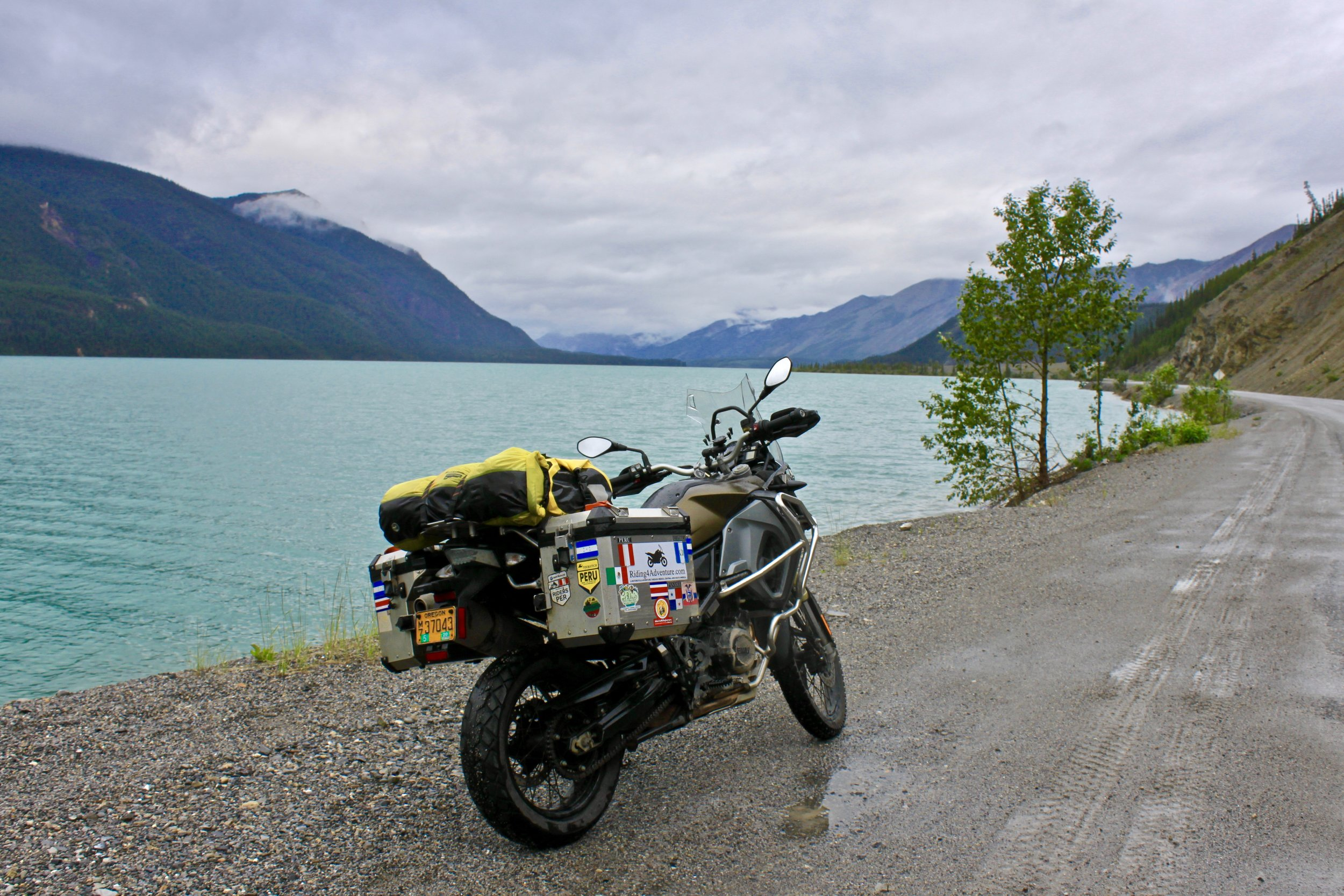 On the road to Liard River Hot Springs.