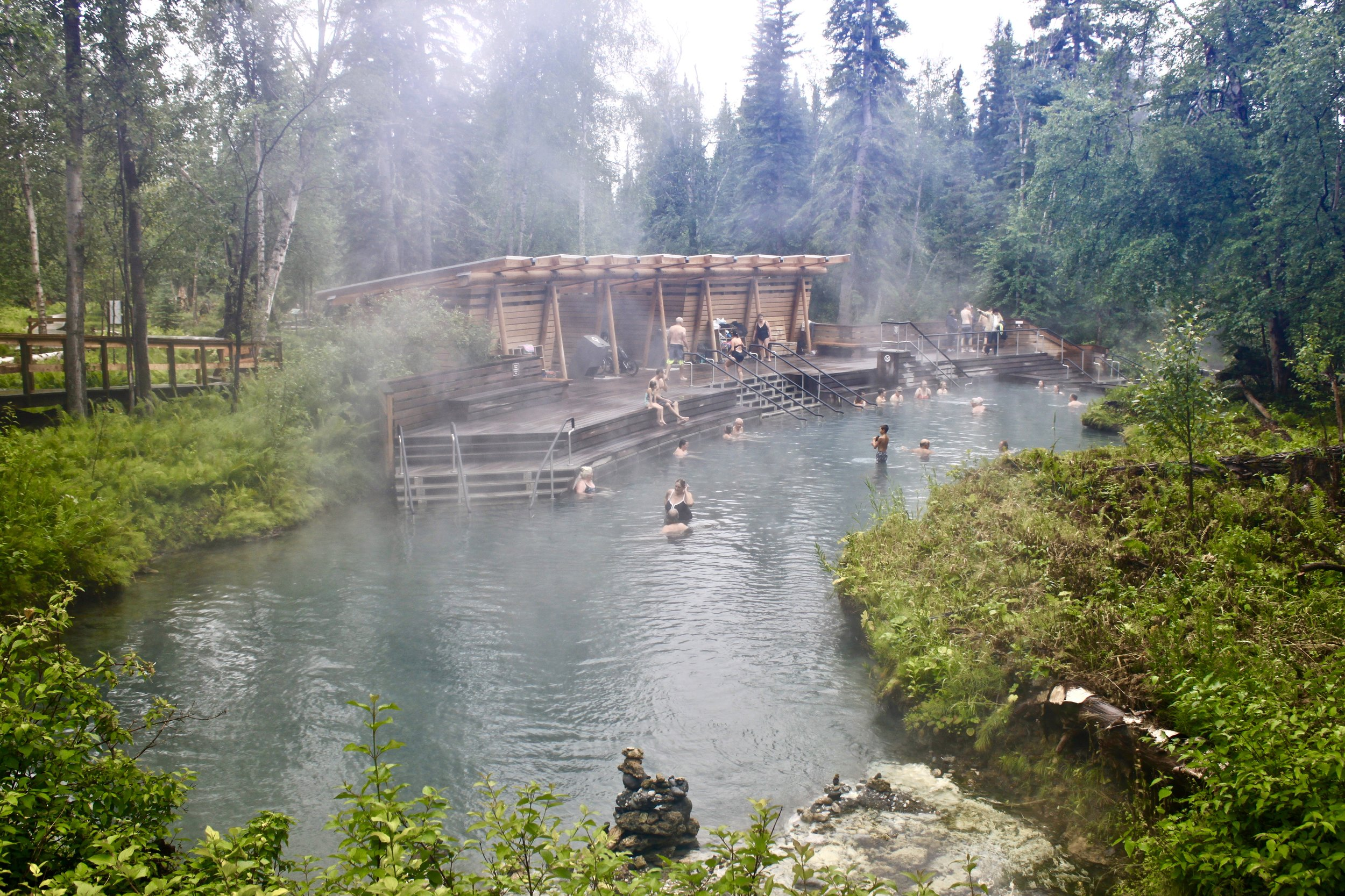 Liard River Hot Springs - I soaked in these waters all afternoon.