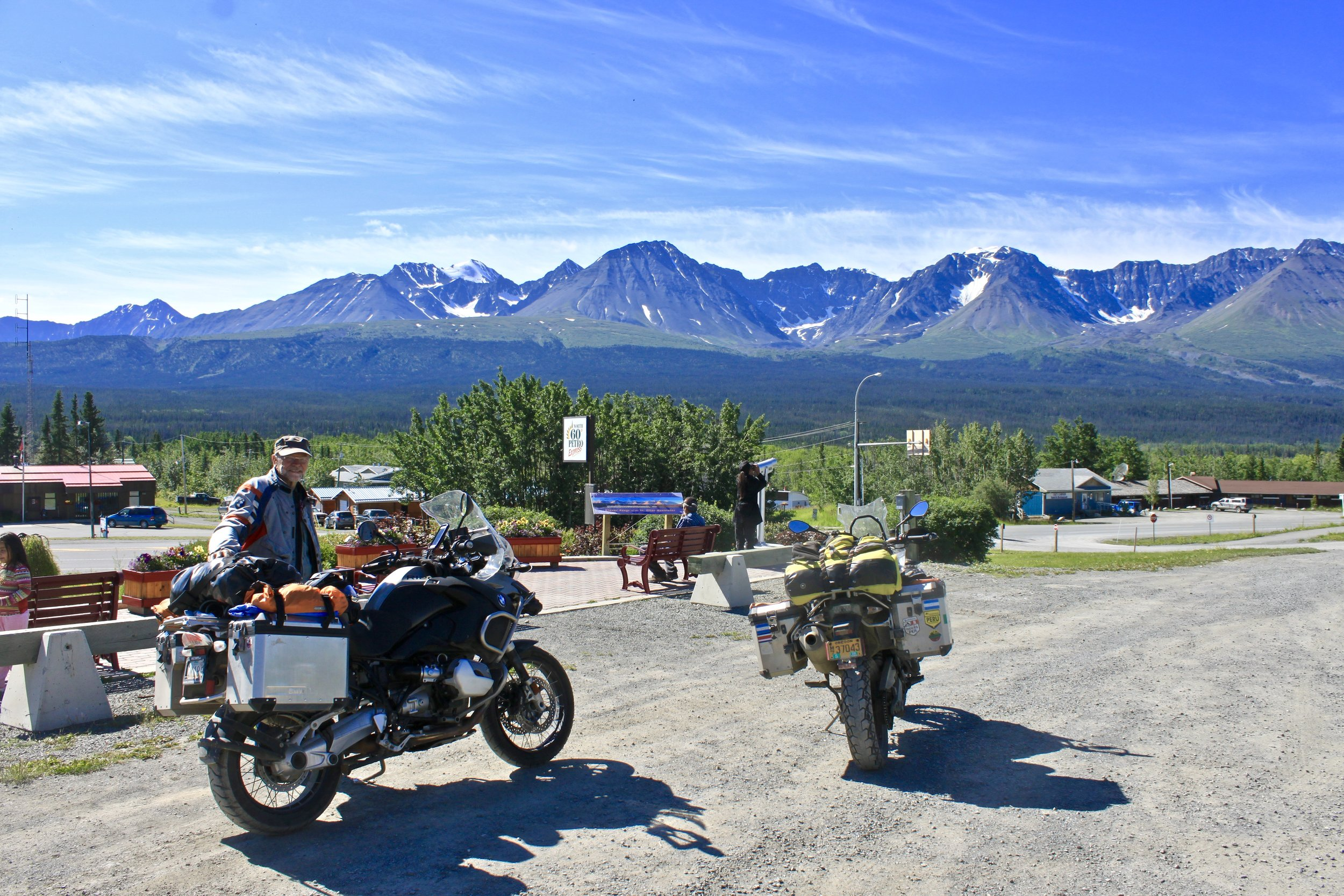 Haines Junction on our way to Tok.