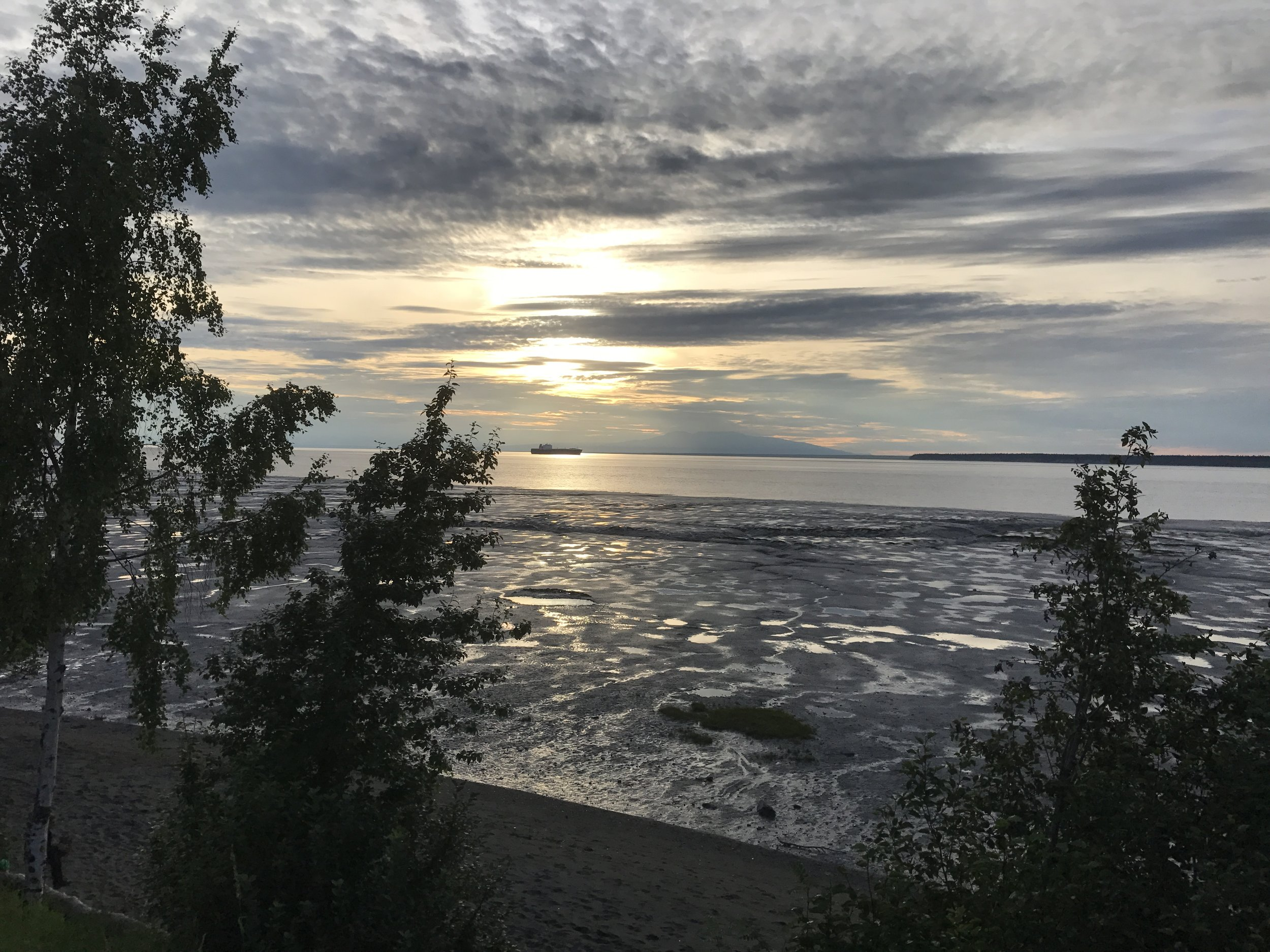 The Cook Inlet at sunset.