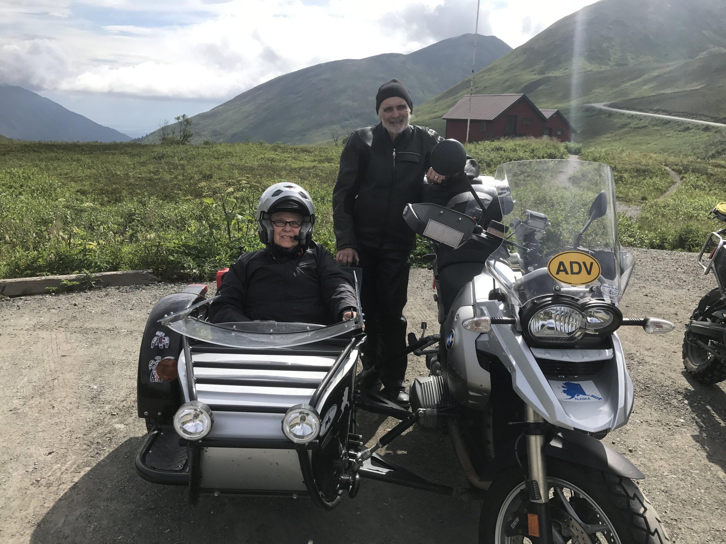 Bob and Sharon ready to ride.