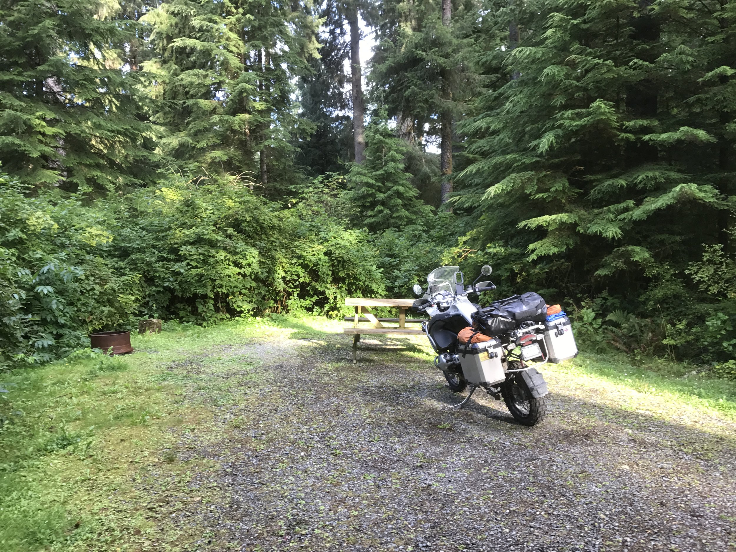 Campsite in Port Hardy.