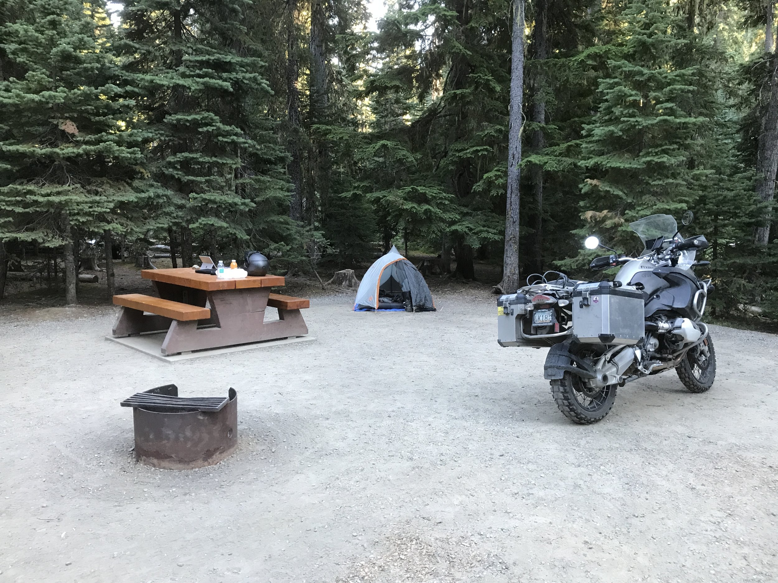 Luxury campsite in Manning Park.