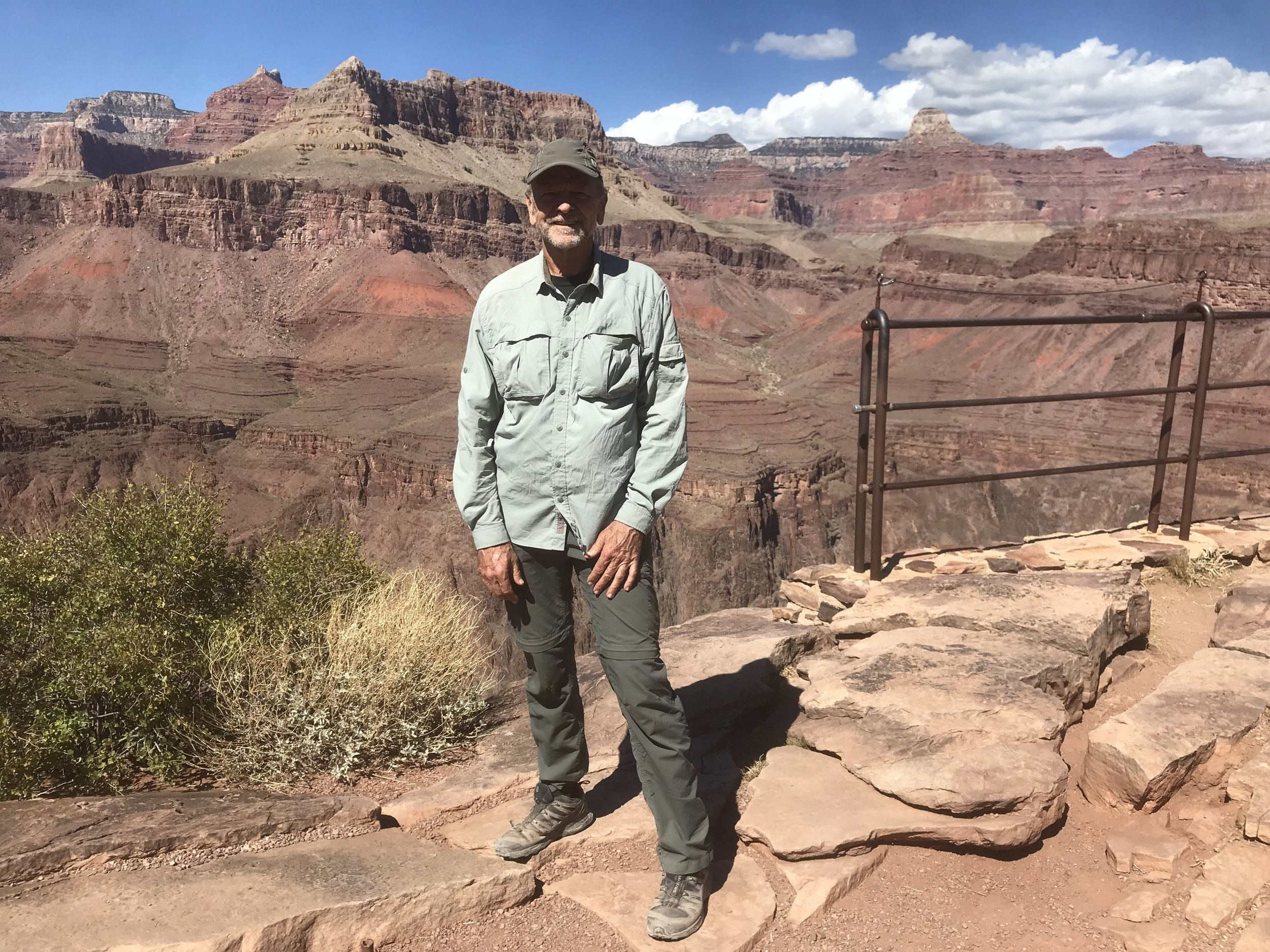 Backpacking in the Grand Canyon with Franco and friends from the Conservancy. Photo taken at Plateau Point.