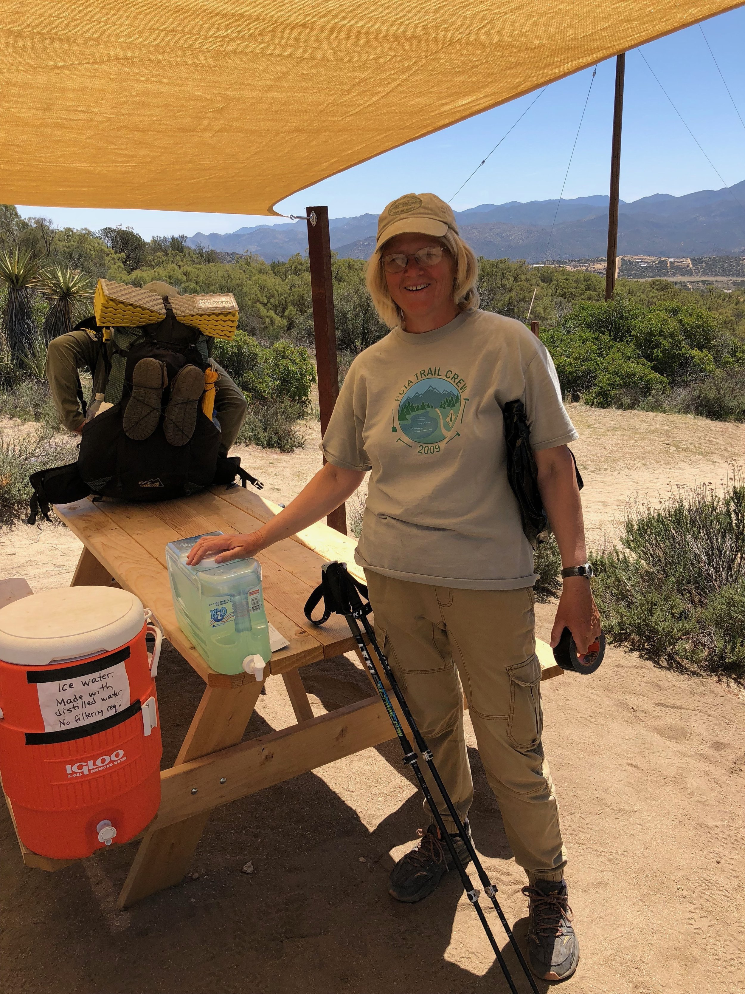This is Mary, creator of a hiker oasis on her property.  She is a true trail angel.