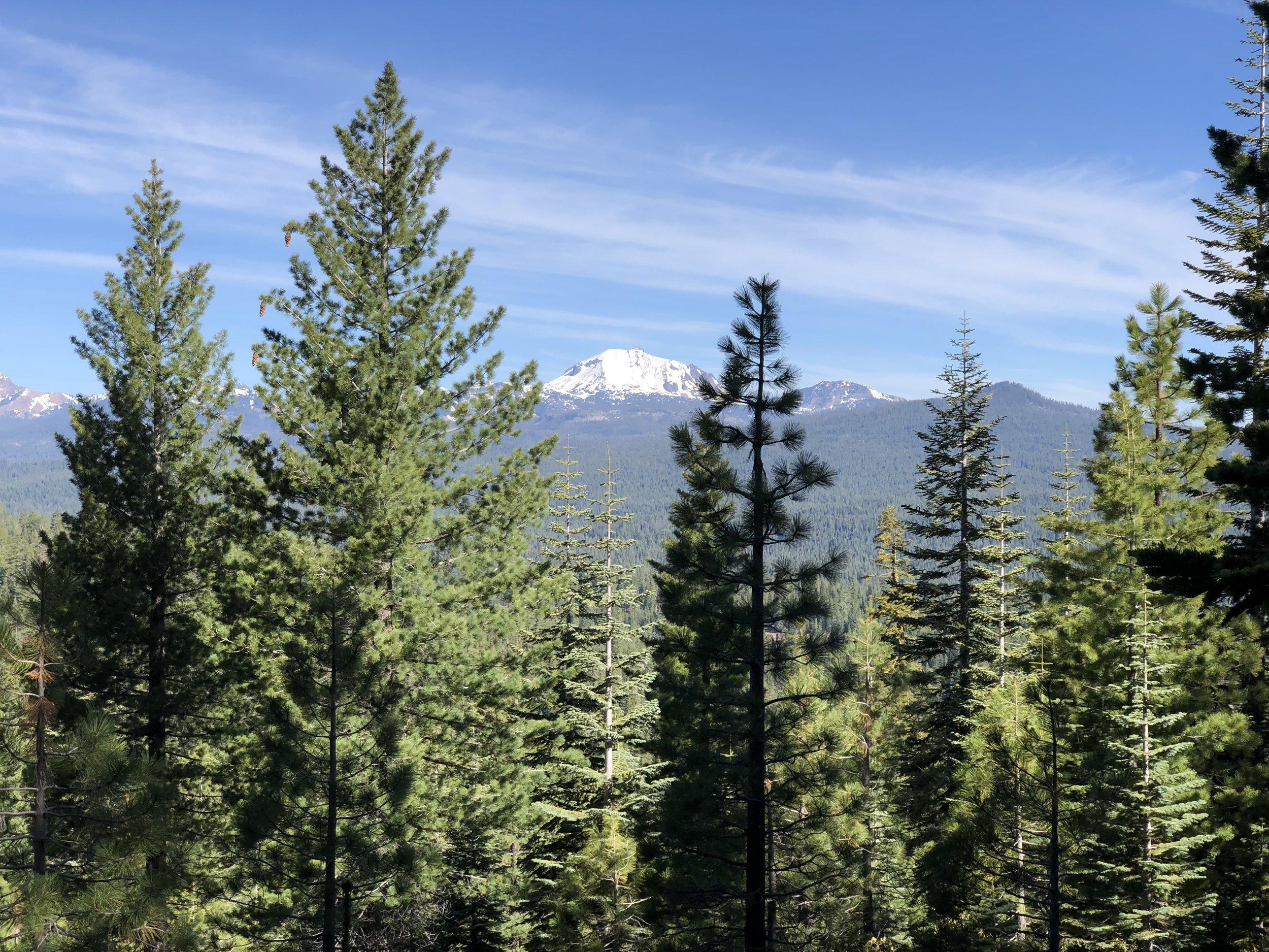 First view of Mount Lassen