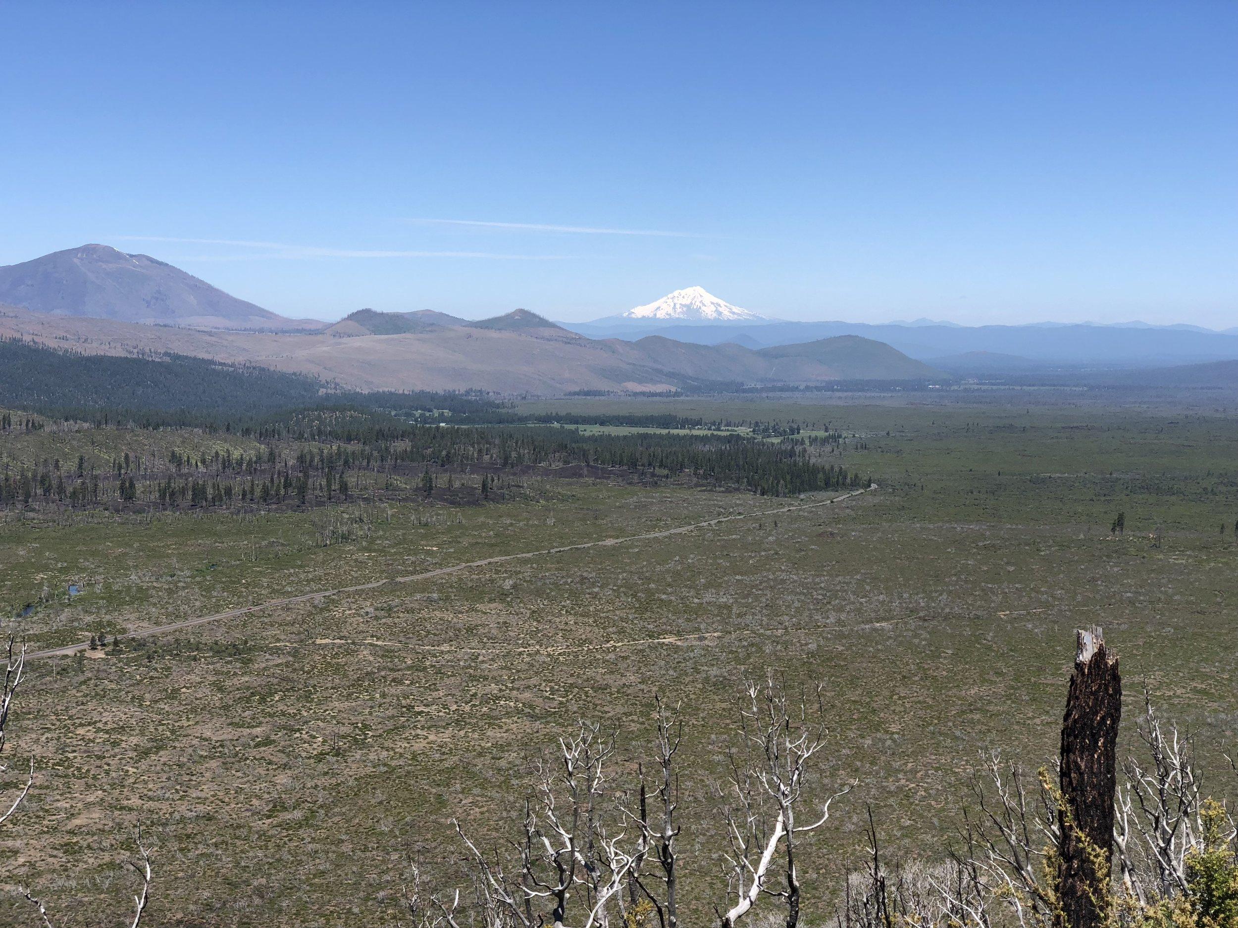 Mount Shasta saying hello and wishing safe travels.