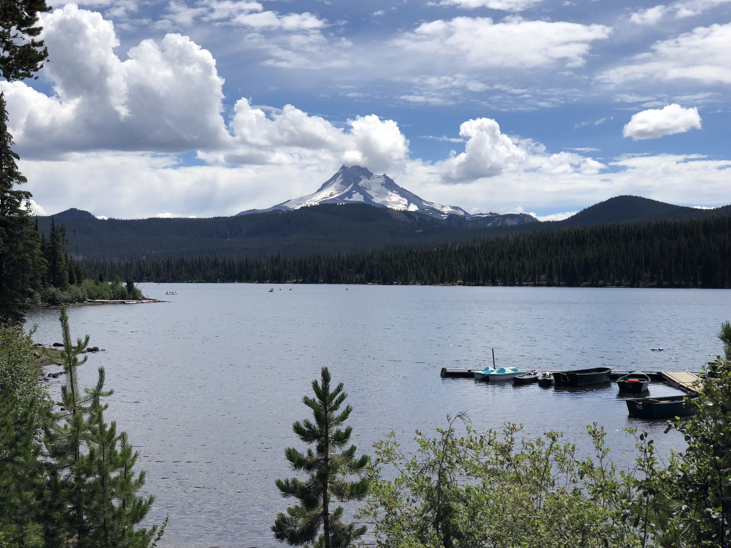 Olallie Lake with Mount Jefferson in the background.