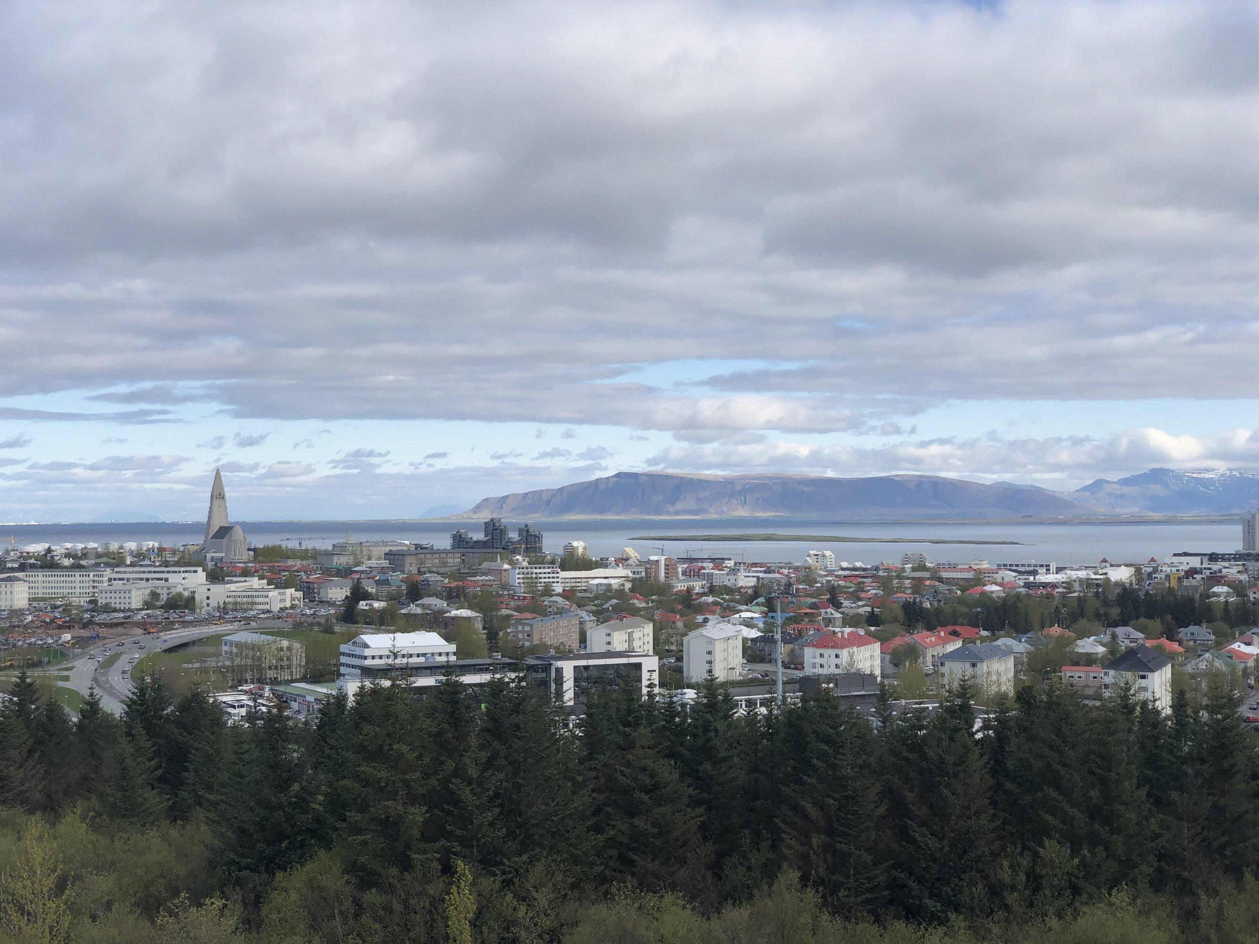 Reykjavik skyline.