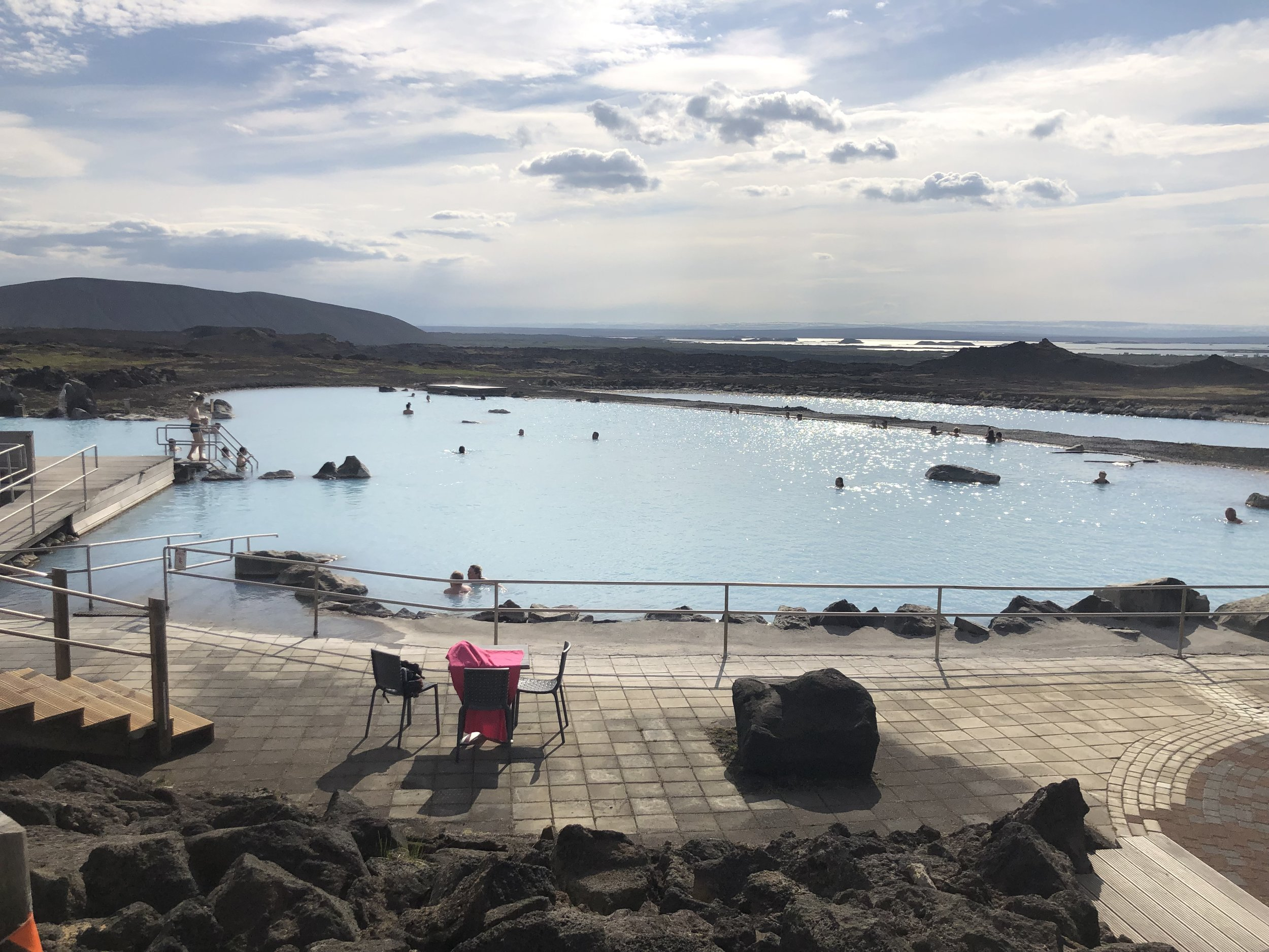 Best hot springs were the mineral baths at Myvatn.