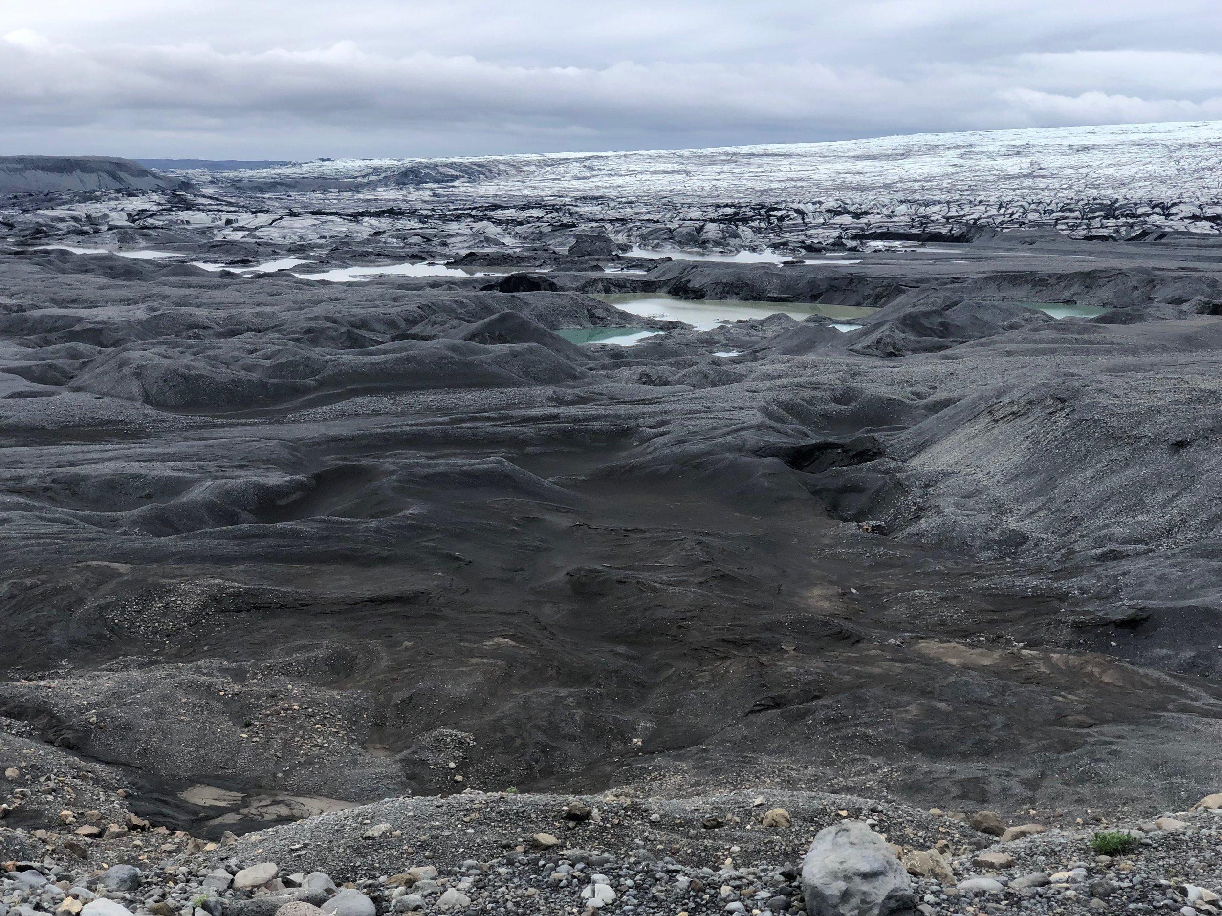 Terminus of a vast glacier.