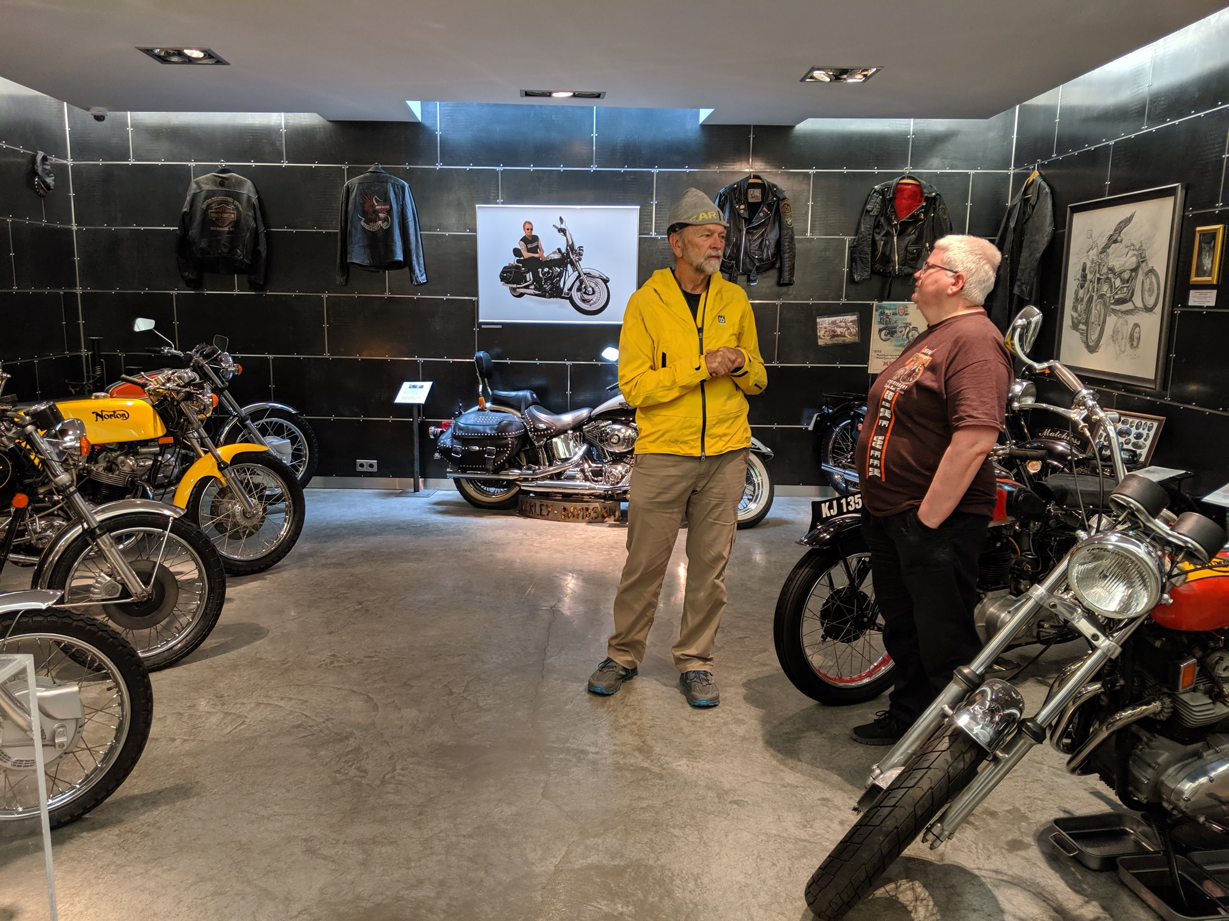 """I pleaded with the proprietor of a motorcycle museum in Akureyri to let me take that yellow Norton for a spin. All I got in response was a """"you got to be kidding"""" blank stare."""