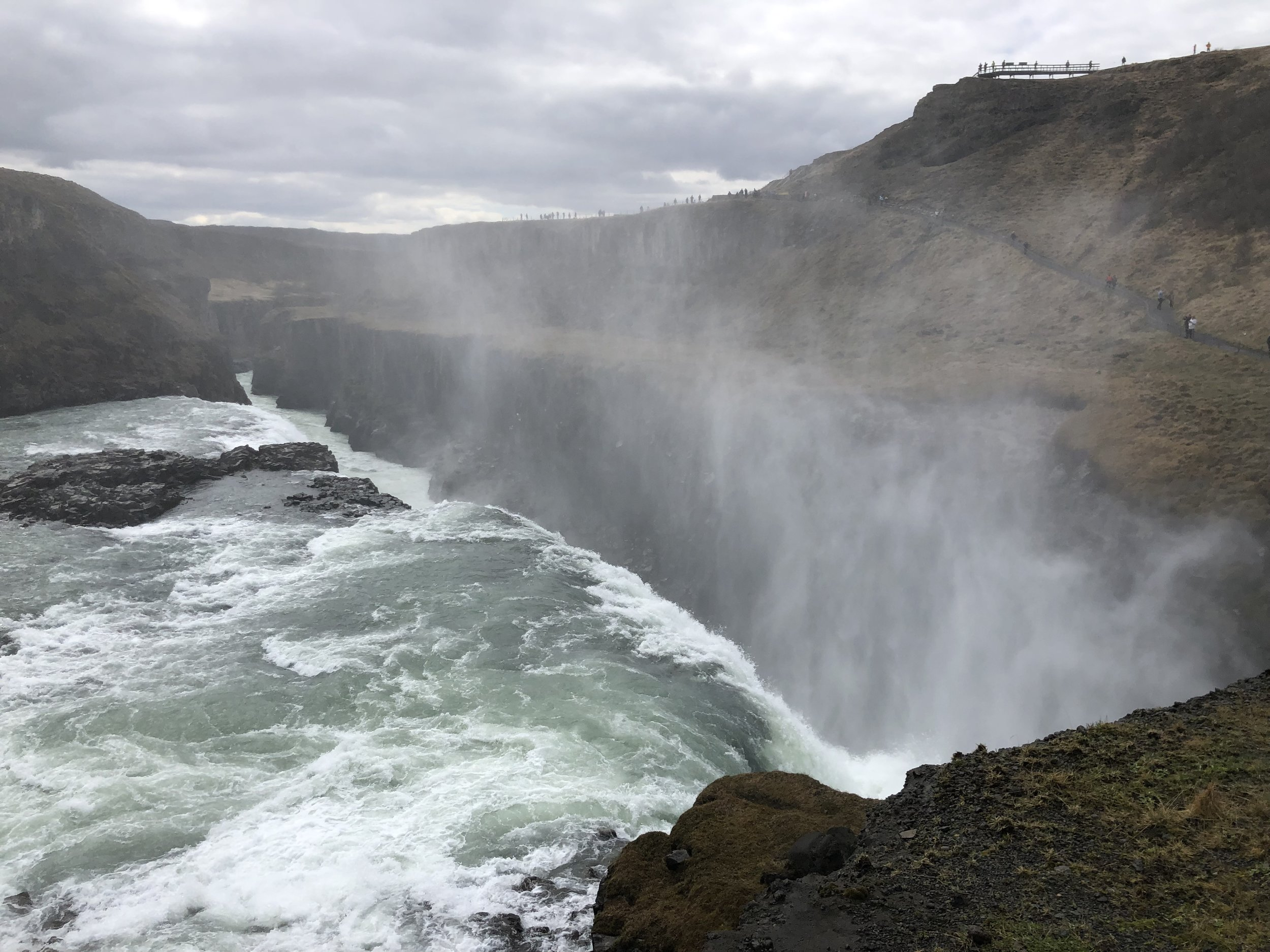 Iceland is blessed with many dramatic and powerful waterfalls.