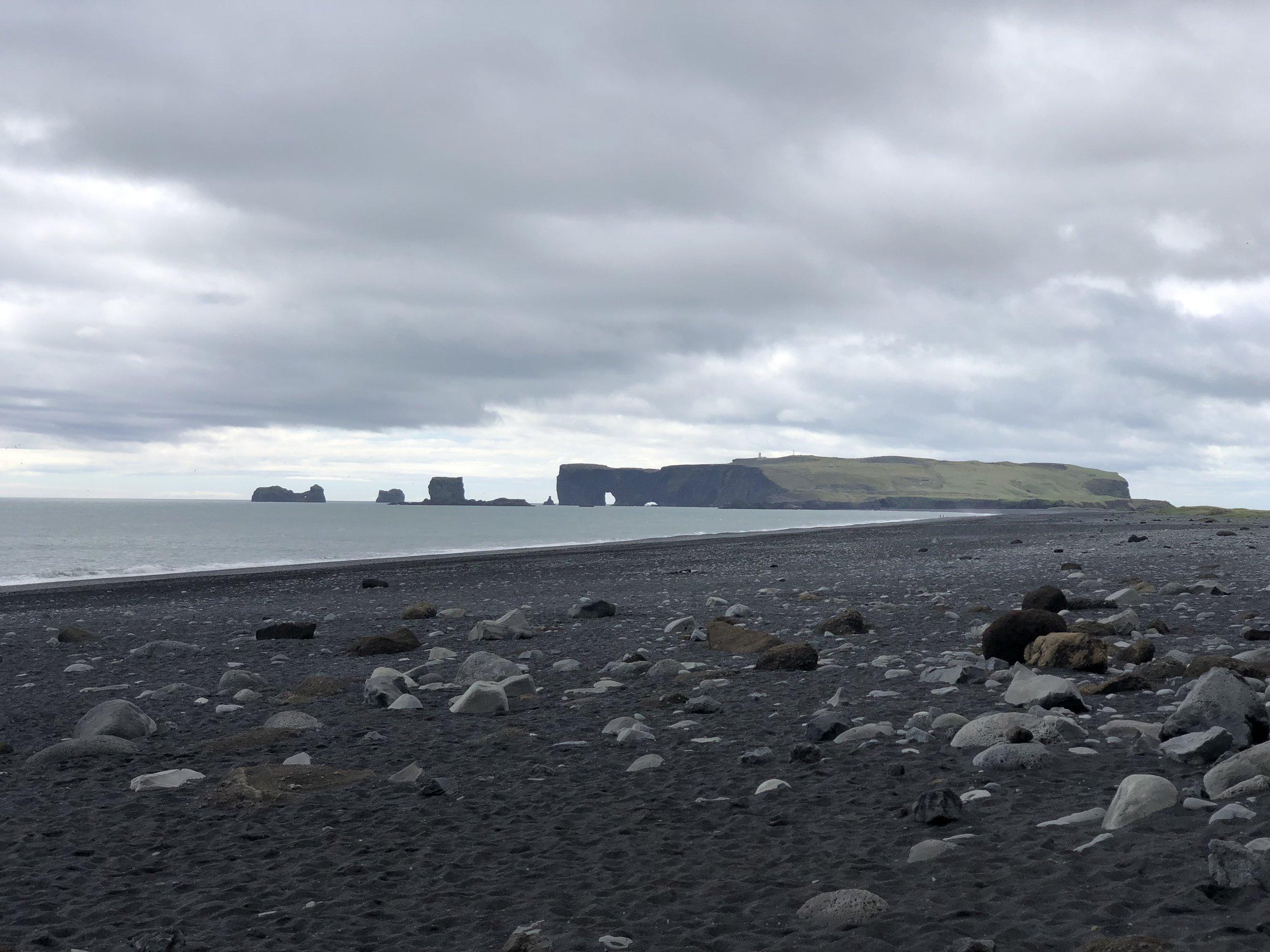 Around the world black sand beaches are a rarity. In Iceland black sand beaches are the only kind.