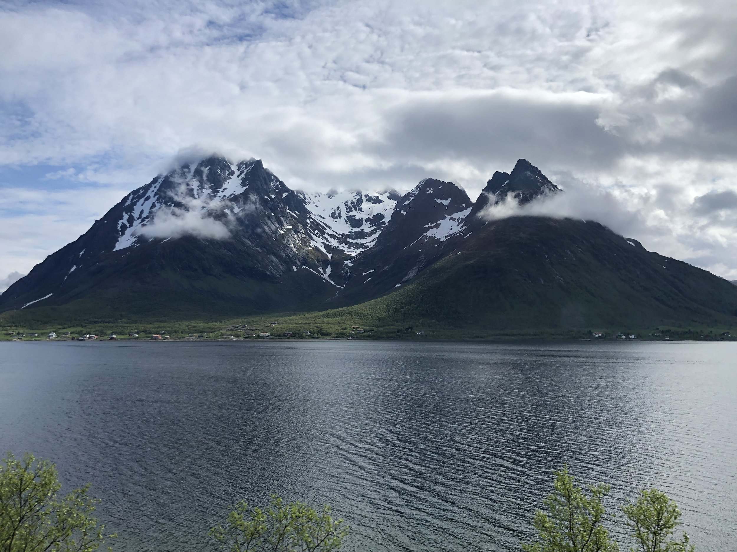 After a couple days we took the bus from Svolvaer to Narvik. We were told that ride was boring and uneventful. That was not the case. There were spectacular views in all directions the entire trip to Narvik. This photo and the one below were taken from the bus.
