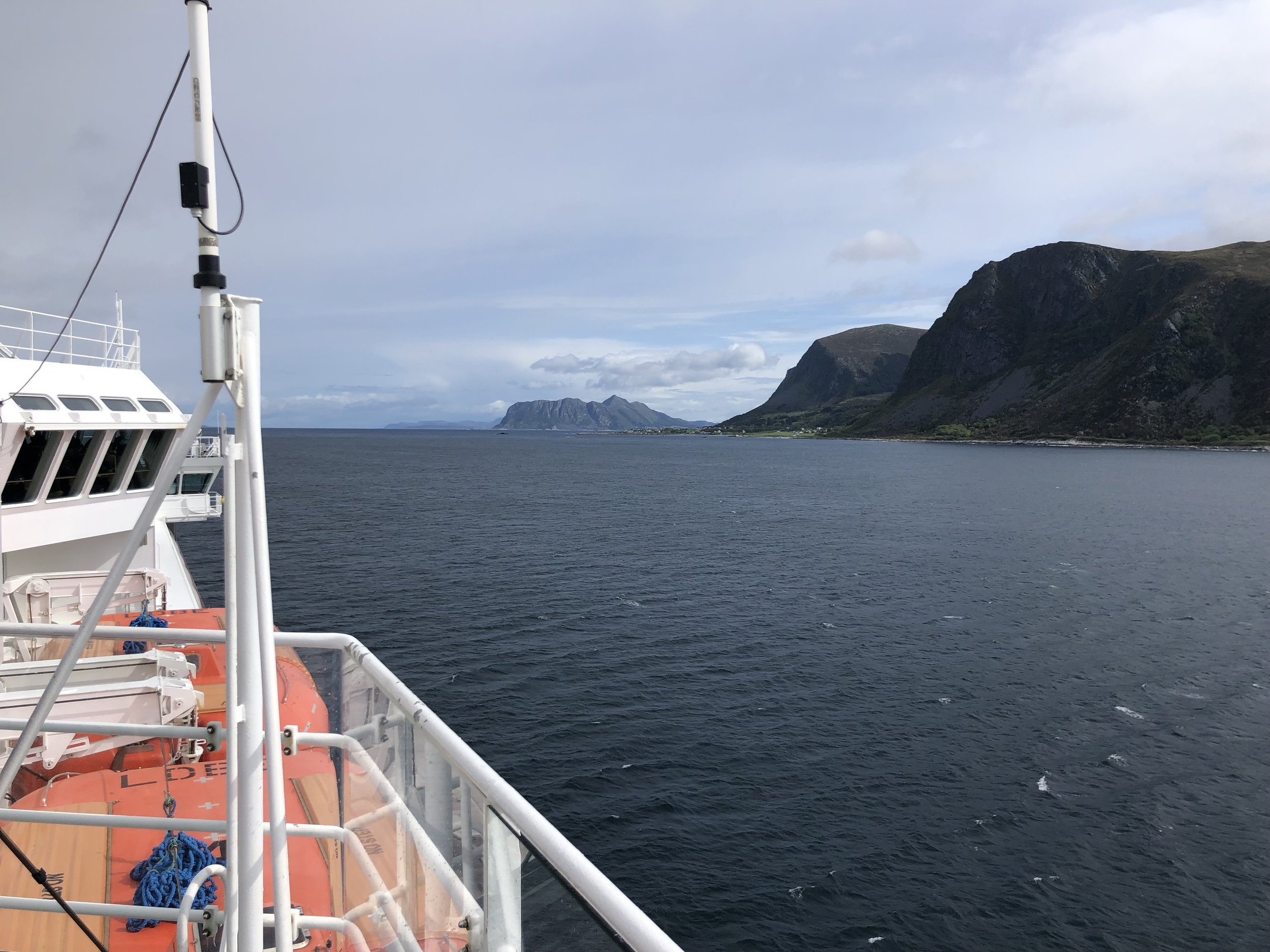 The route the ferry took followed the rugged Norwegian coastline north with a few stops at small fishing villages along the way.
