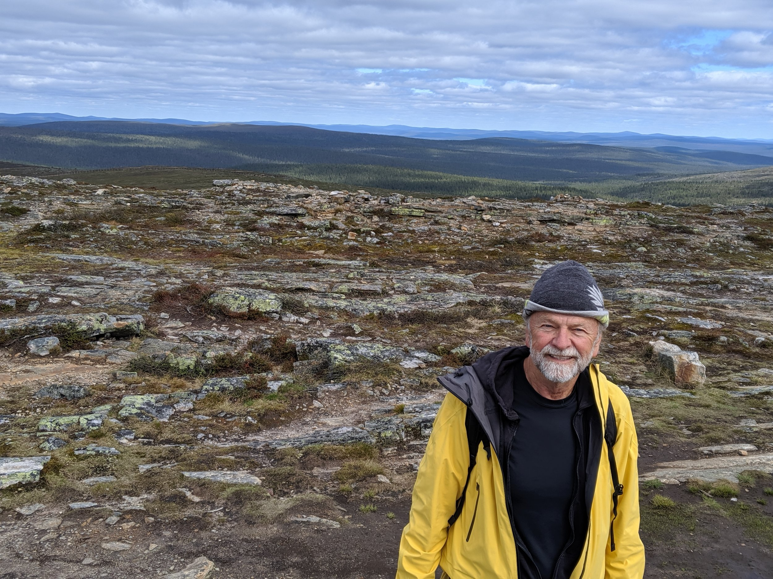 We hiked to the top of a fell (in Finland small mountains are called fells) . From the top we could see 50 miles or more in all directions.