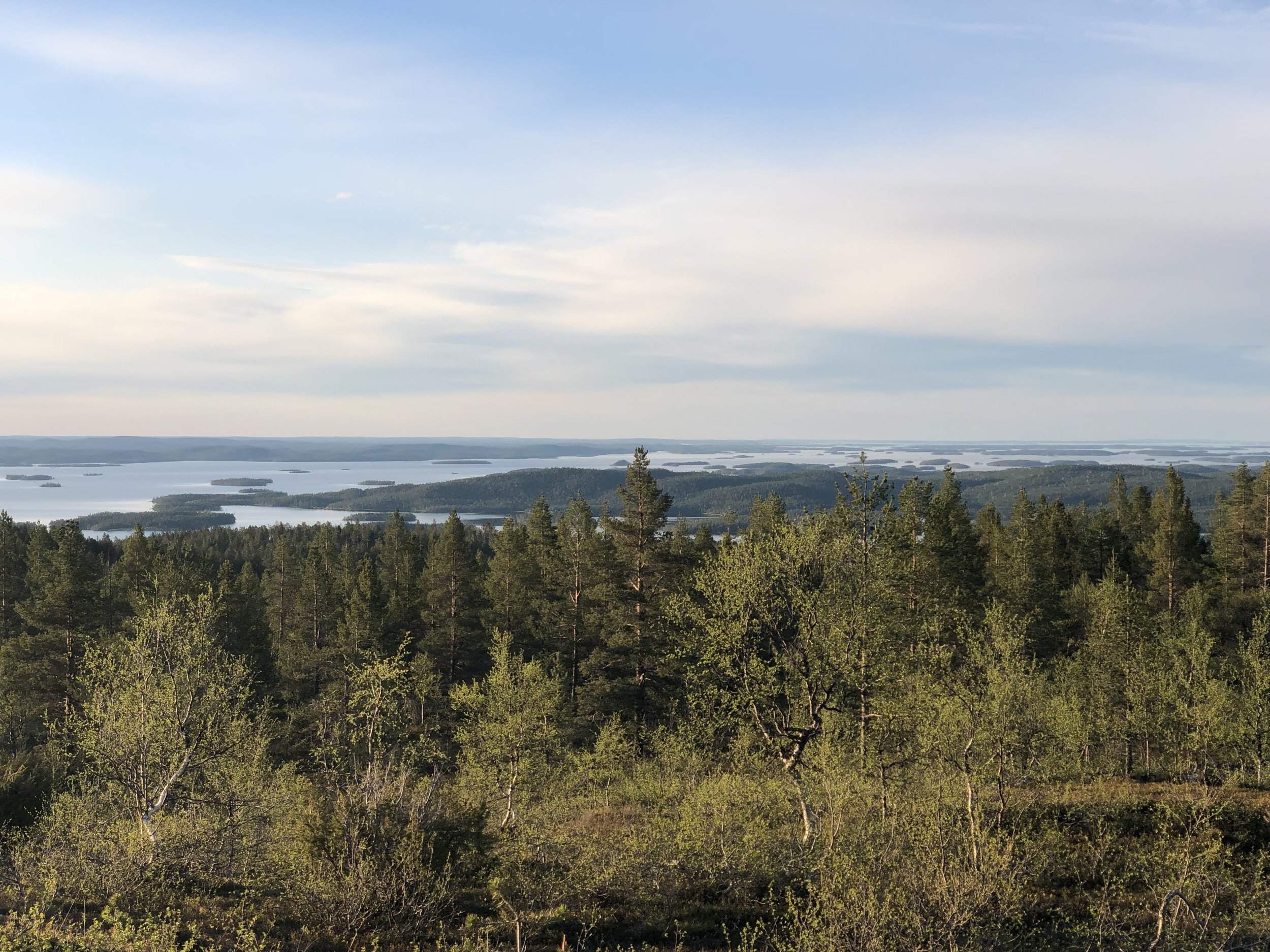 View of Lake Inari in Northern Finland.