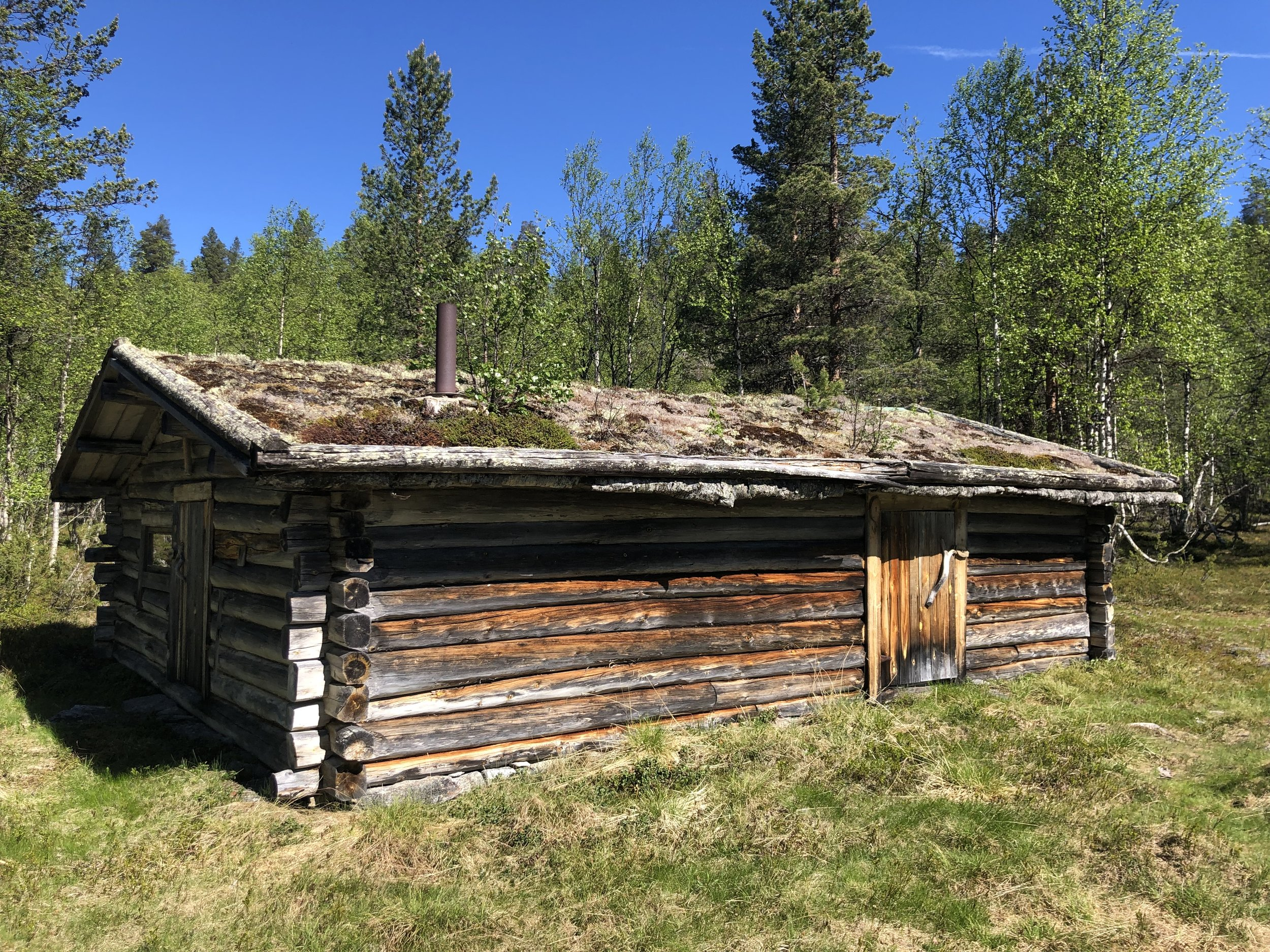 A hut near the corrals, which still used by the Sami during the annual roundups.