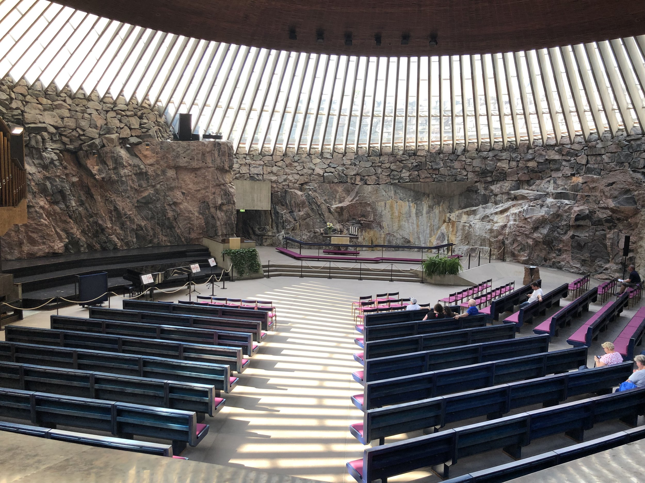 As its name implies, the Rock Church in Helsinki was cut of solid rock. It was a very peaceful space.