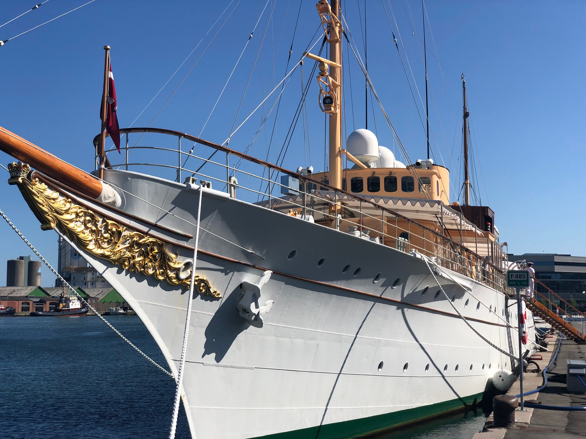 The Queen of Denmark was in Aarhus when we arrived. Apparently she traveled by boat, as her royal yacht was docked in the harbor. We hung around looking pitiful, but she never invited us on board.