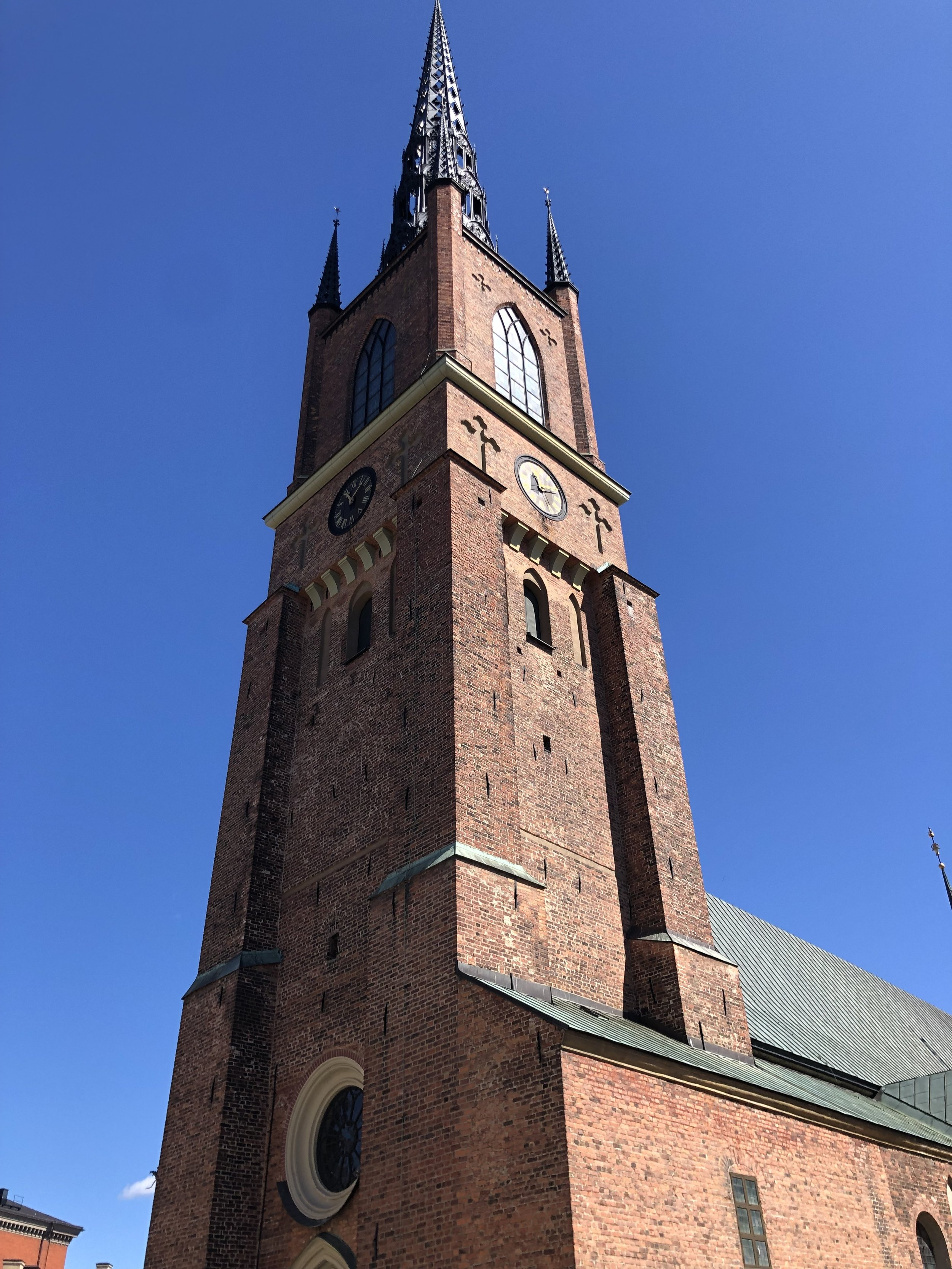 Church, which is not part of the royal palace complex, is where Swedish royalty are buried.