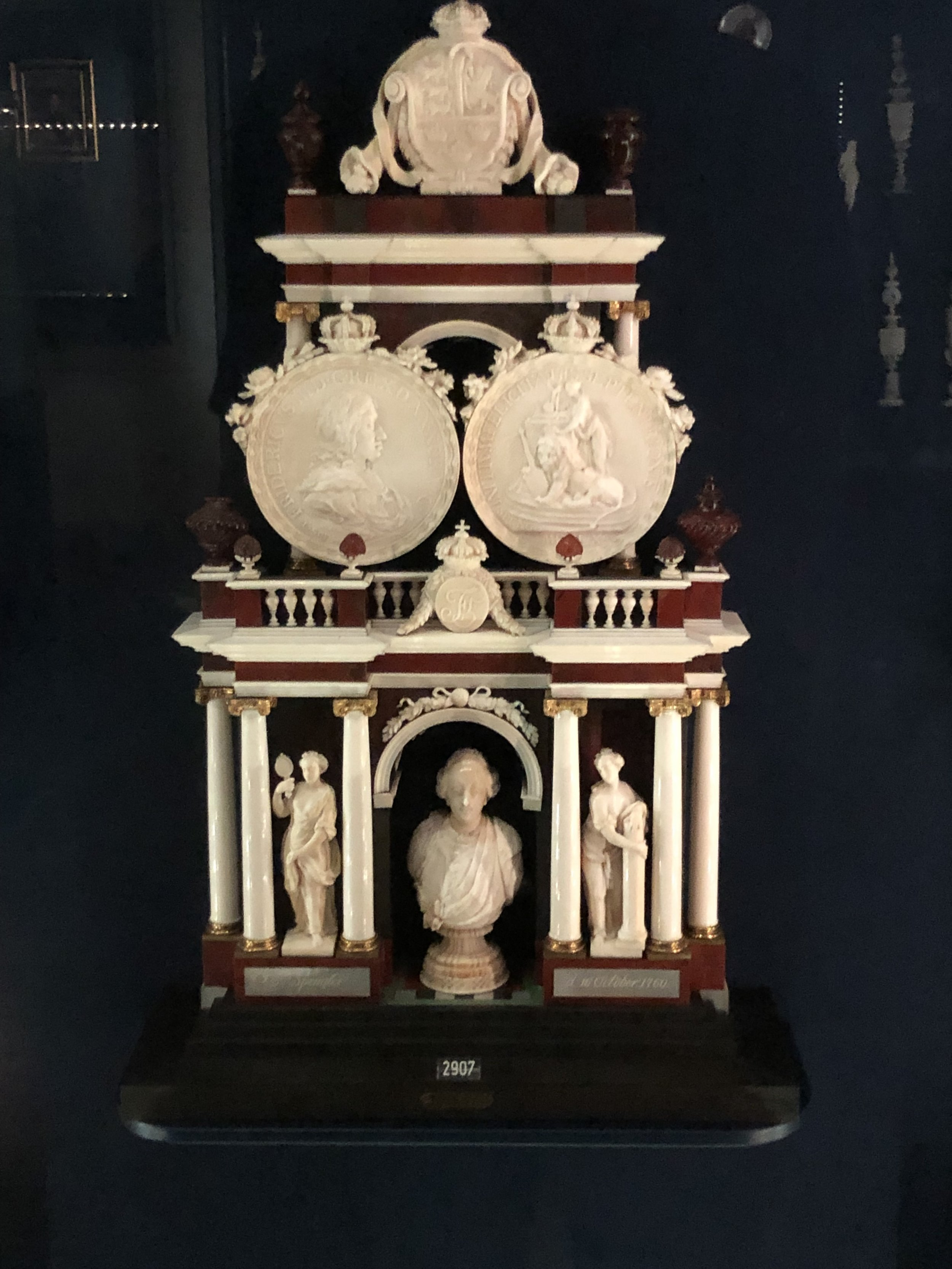There were many pieces like this one beautifully carved in ivory.