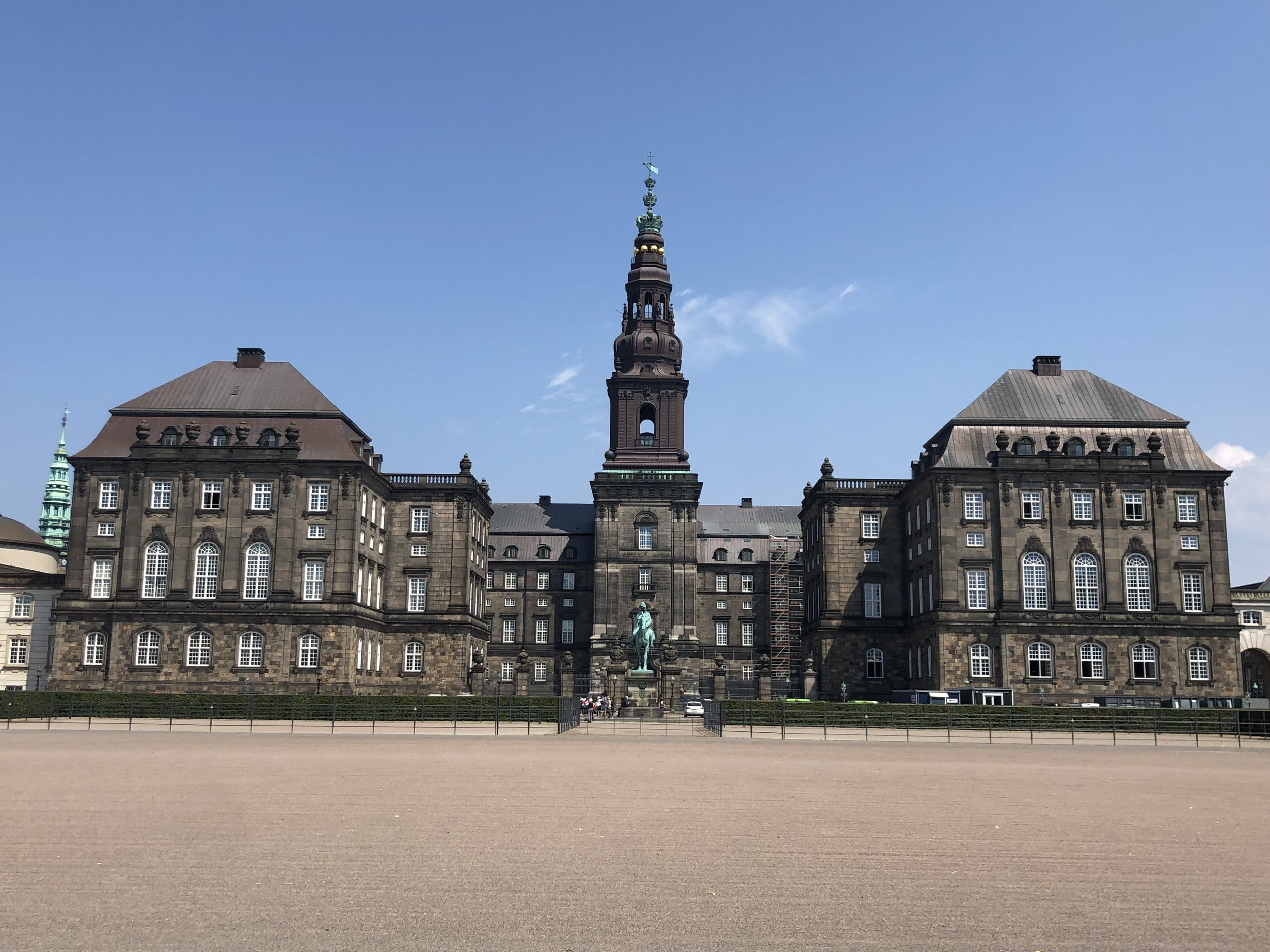 The current royal palace in Copenhagen.