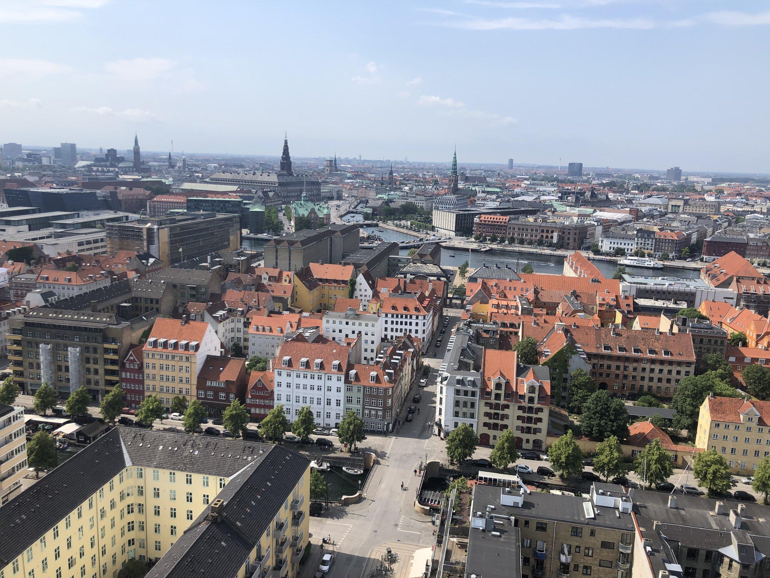 View of Copenhagen from the top.
