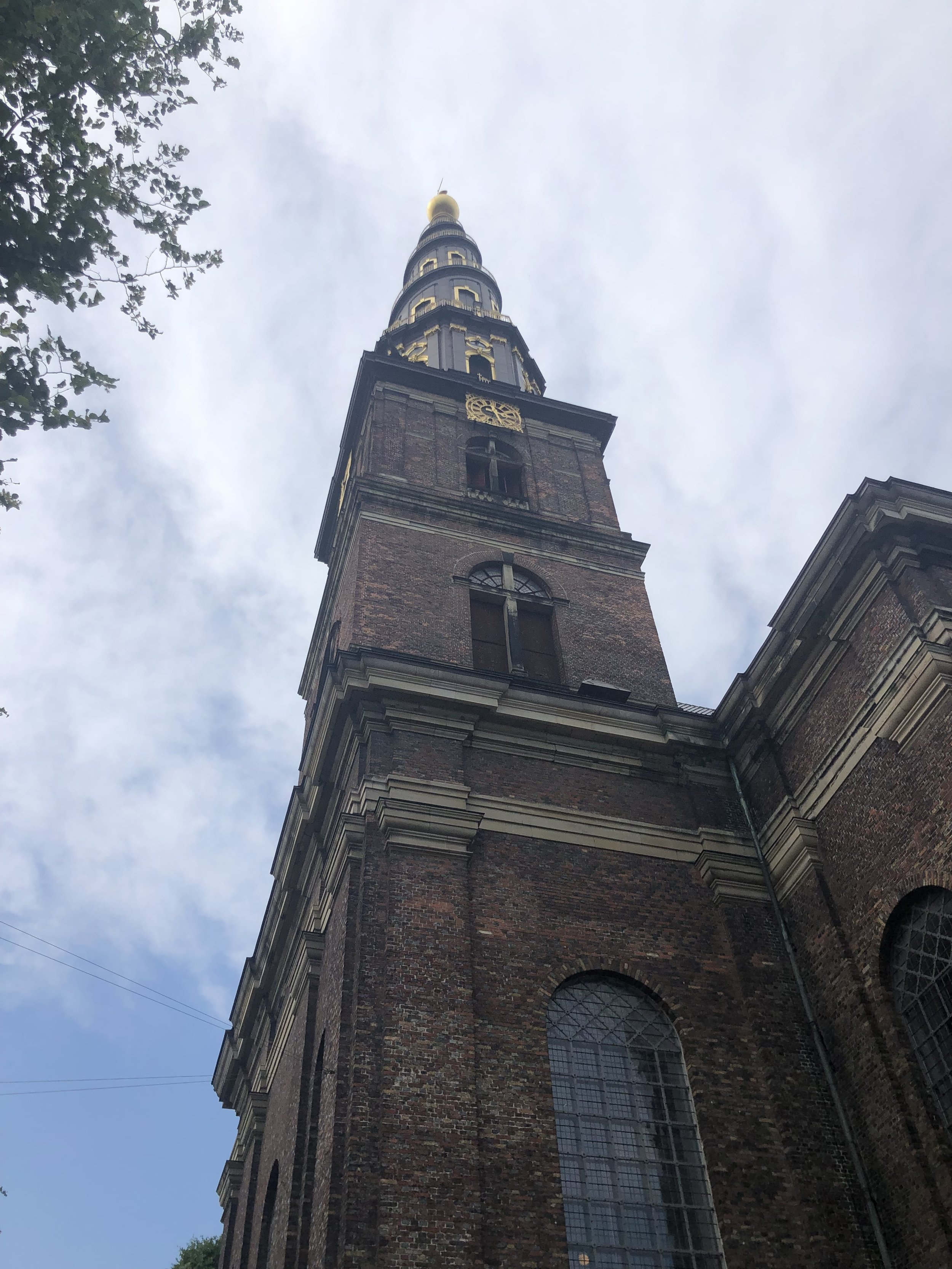 I climbed the steeple in this old church for a fantastic view of Copenhagen.
