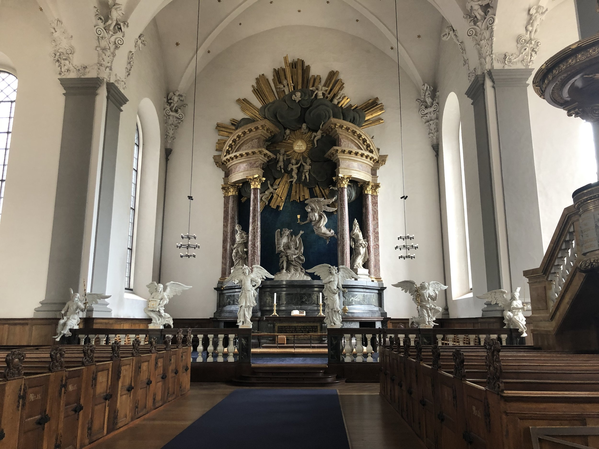 Inside of the church.