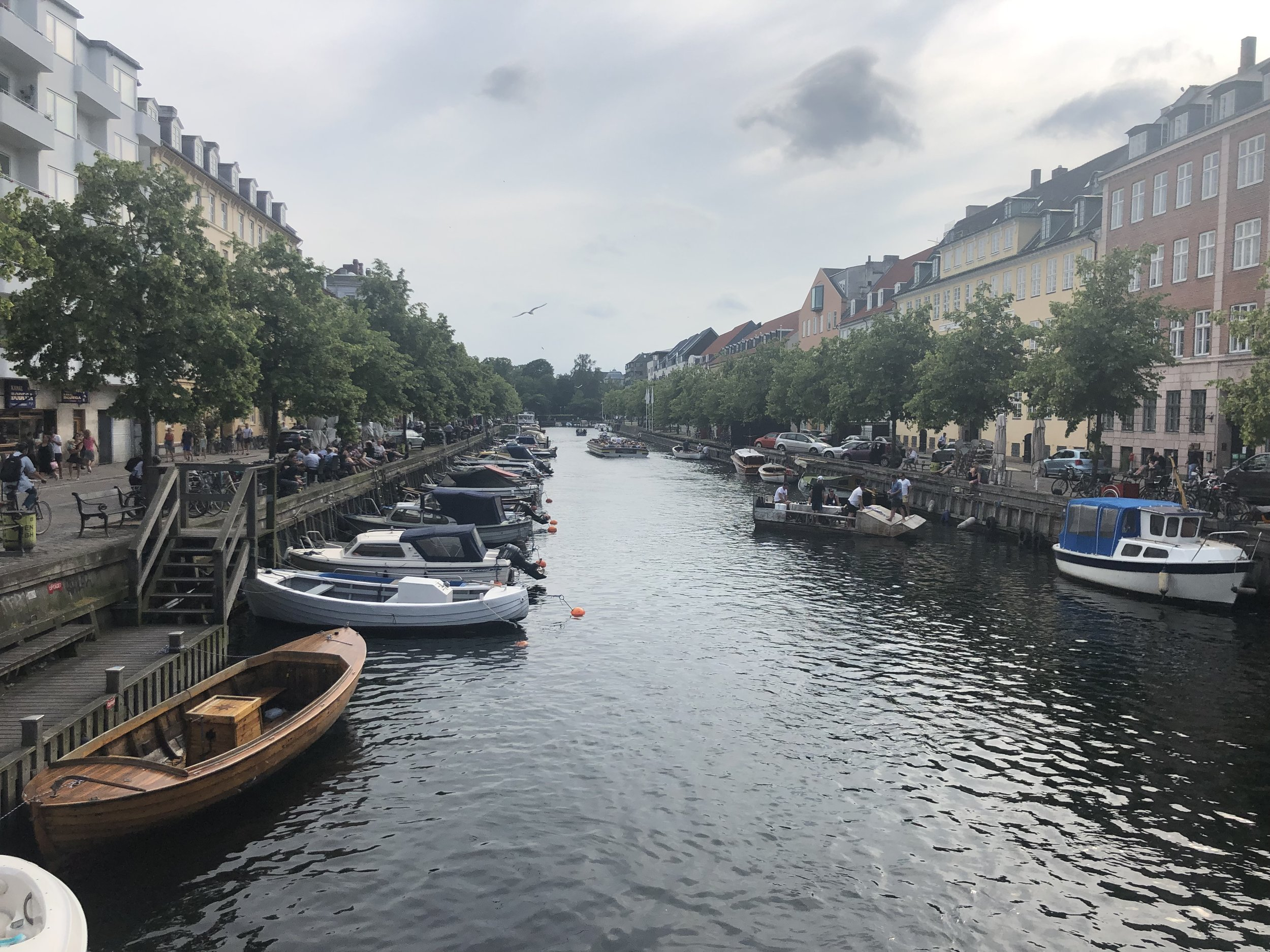 One of the many canals in Copenhagen. They are mostly used pleasure boating and tours.