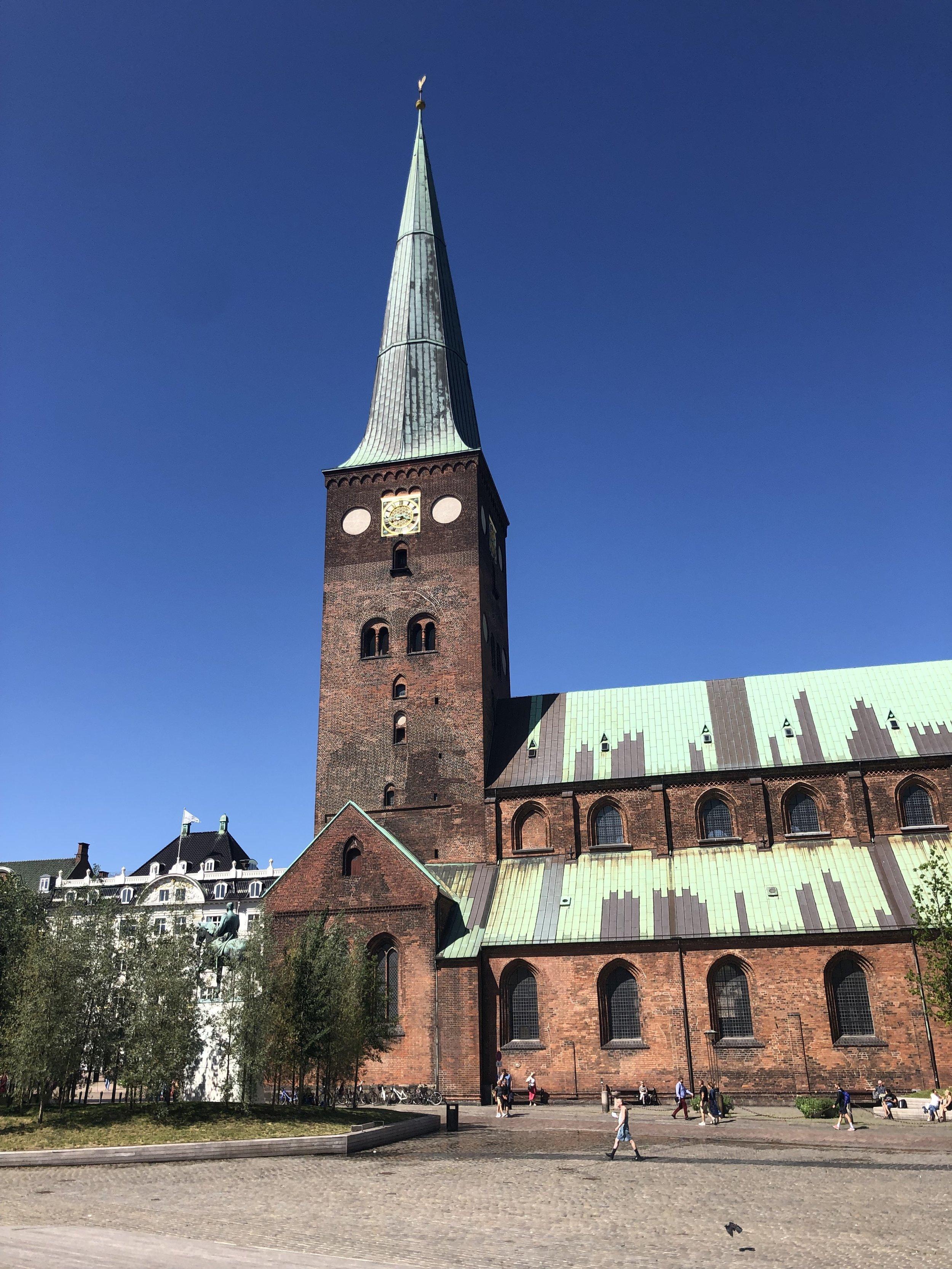 After Copenhagen we headed to Aarhus, Denmark. Huge old church in the central plaza in Aarhus.