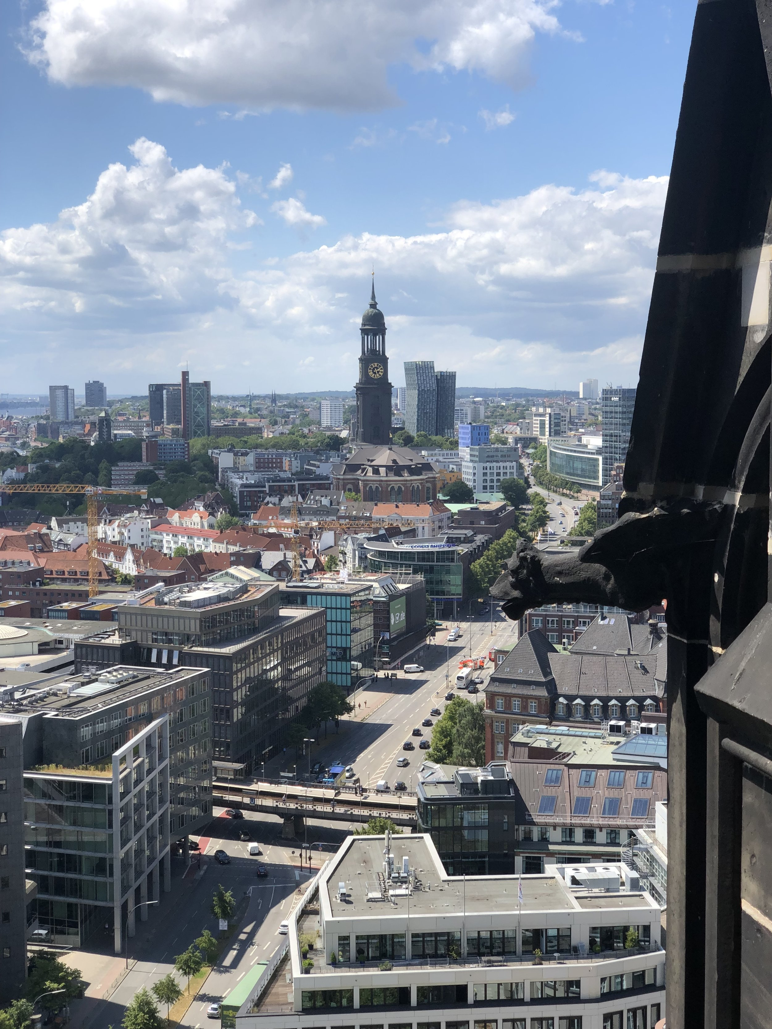 View from the church tower of Hamburg today.